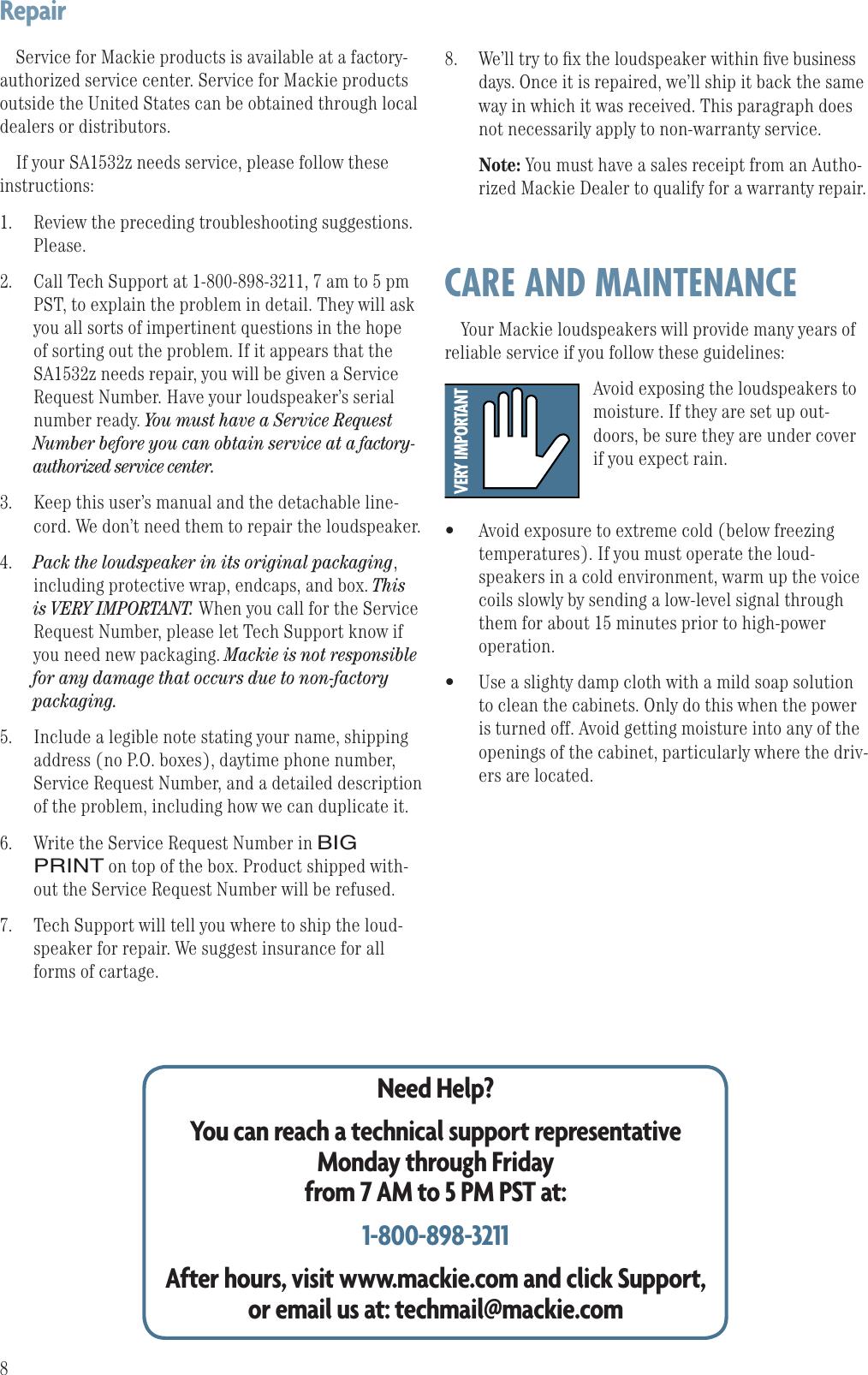 Mackie Sa1532Z Users Manual 0013863_RevA.IDD
