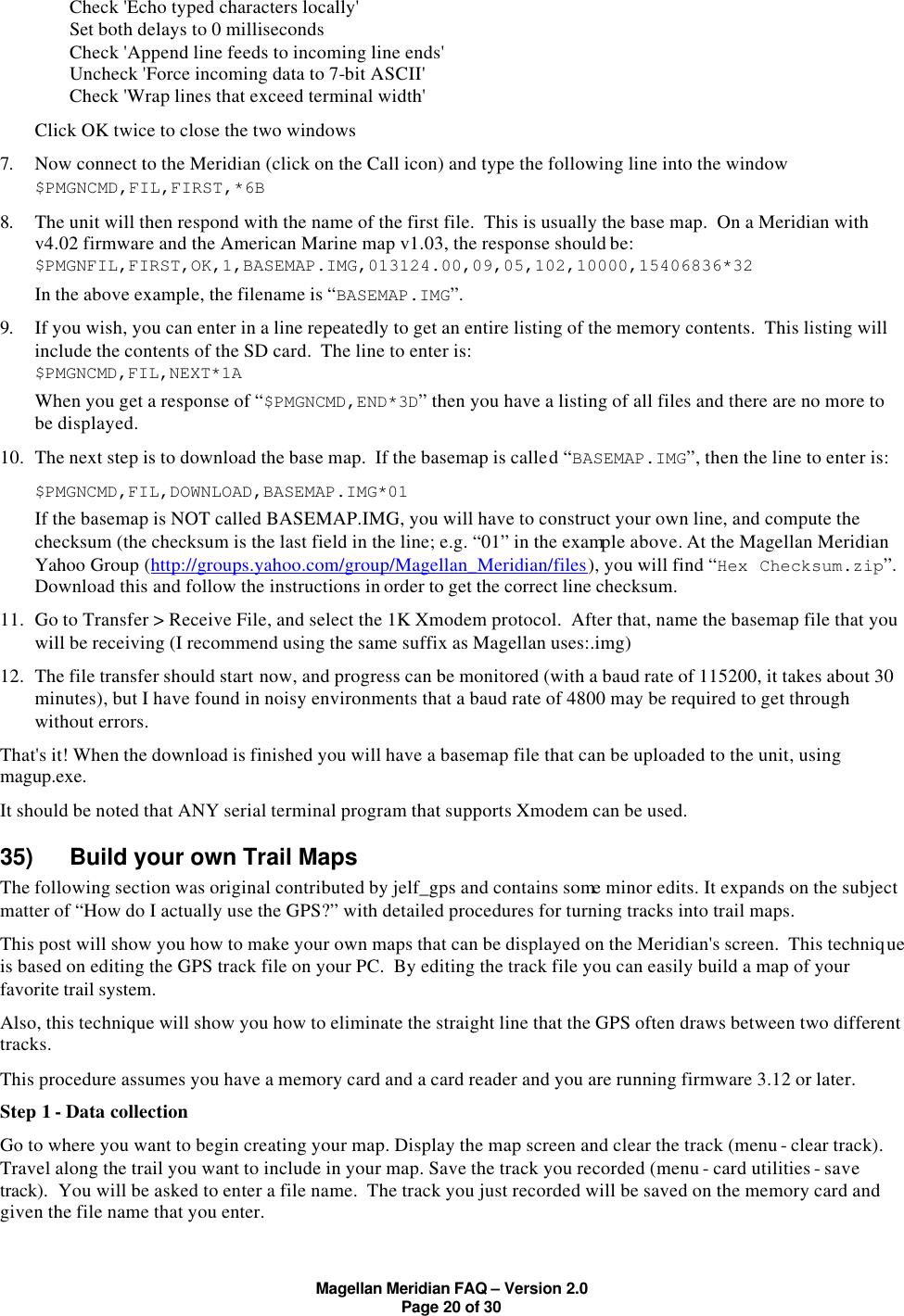 Magellan Meridian Faq Users Manual MeridianFAQv2_0