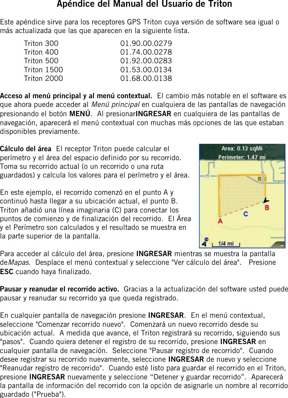Magellan Triton 500 Owner S Manual The Main Menu And Contextual Access
