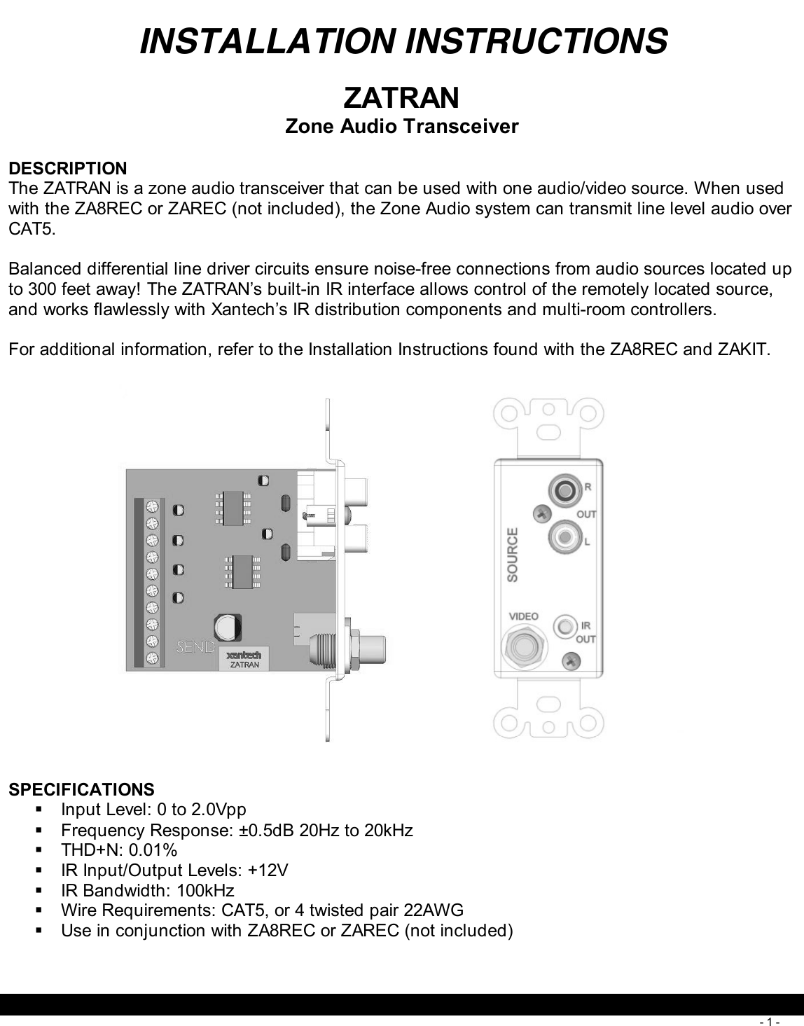 256 I Zatran 08901682x3 User Manual Cat5 Wiring Diagram Wiki
