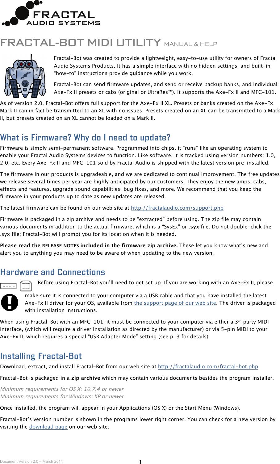 Fractal Bot Mini Manual V2 0 2p0