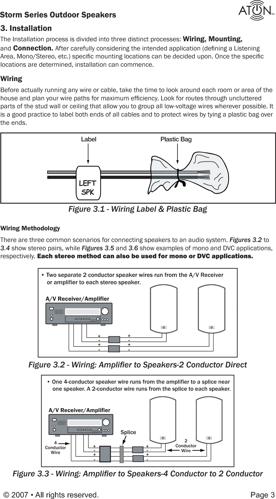 Pdf O61w Manual Aton Outdoorspeakers User Low Voltage Wiring Guide Page 5 Of 12