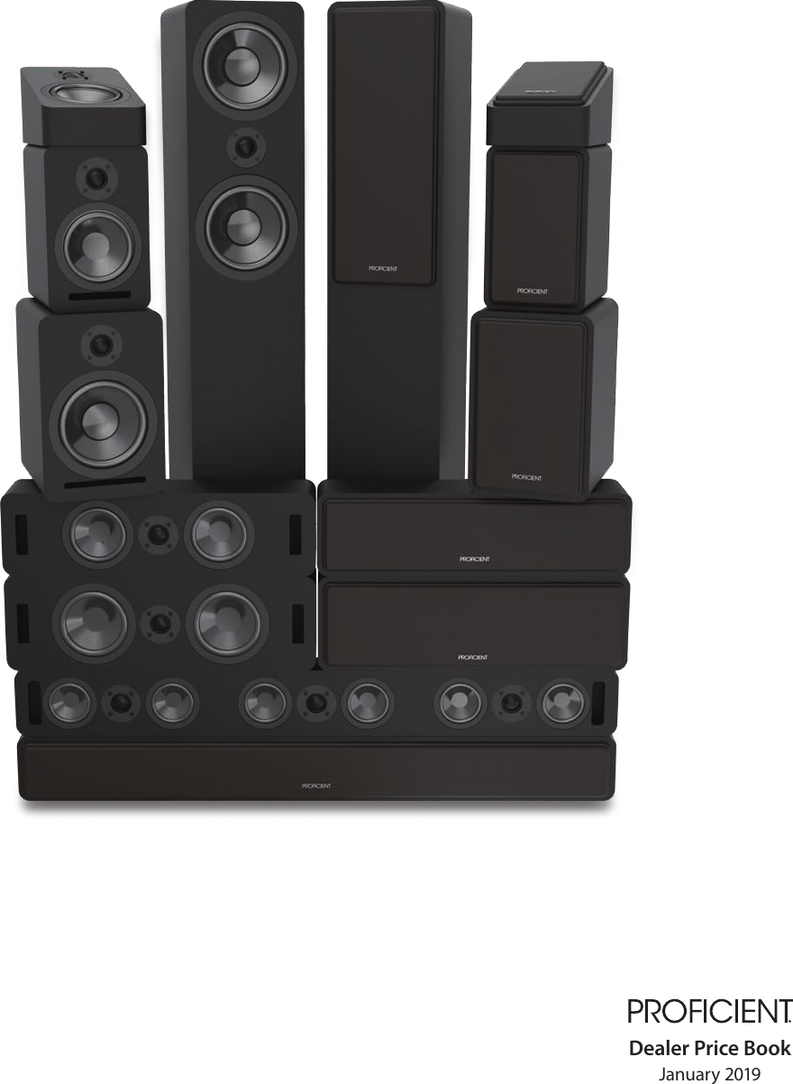 C841 8 Graphite LCR Ceiling Speaker PROFICIENT AUDIO SYSTEMS PAS13841