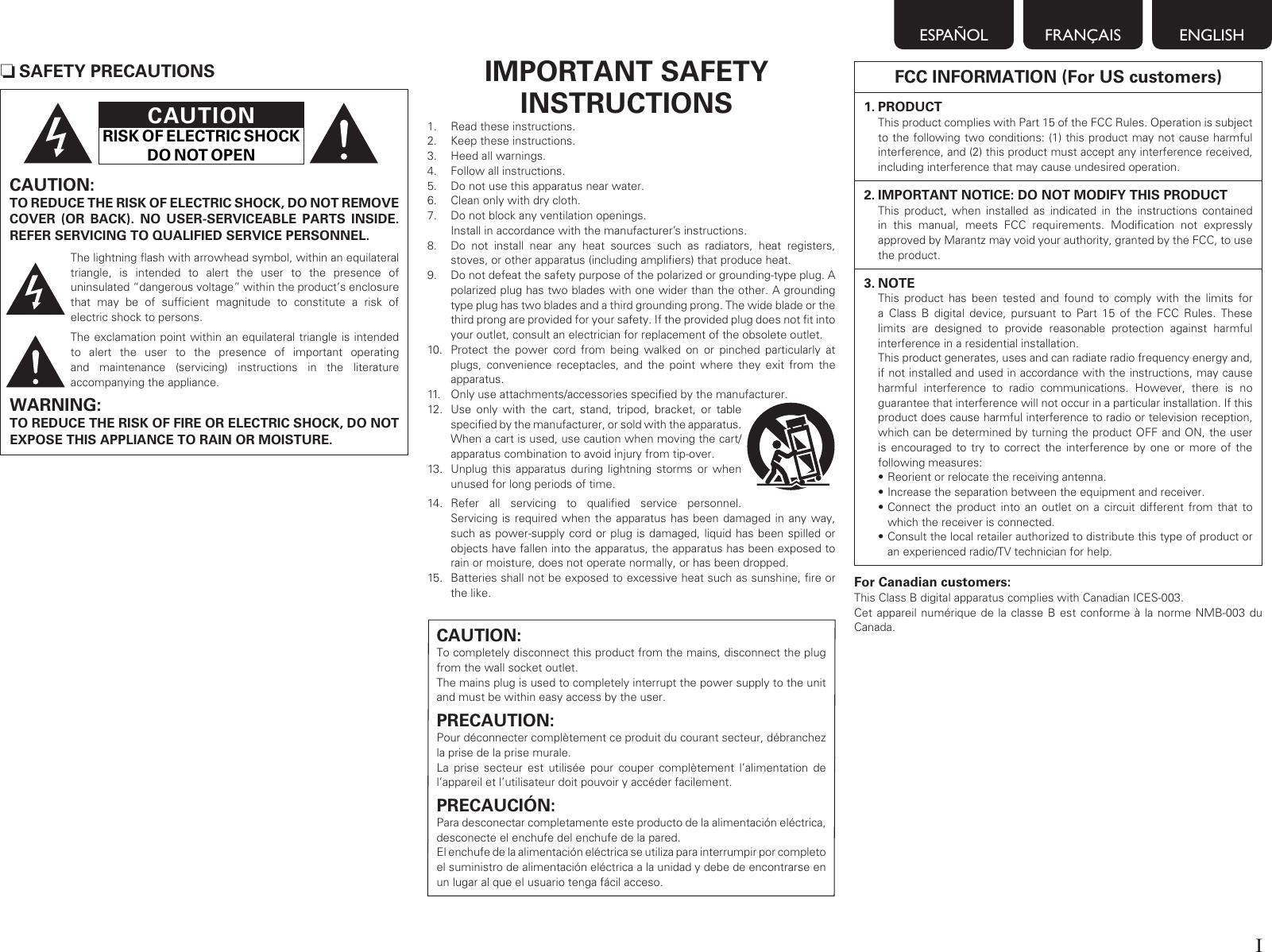 Marantz Av Surround Receiver Nr1601 Users Manual