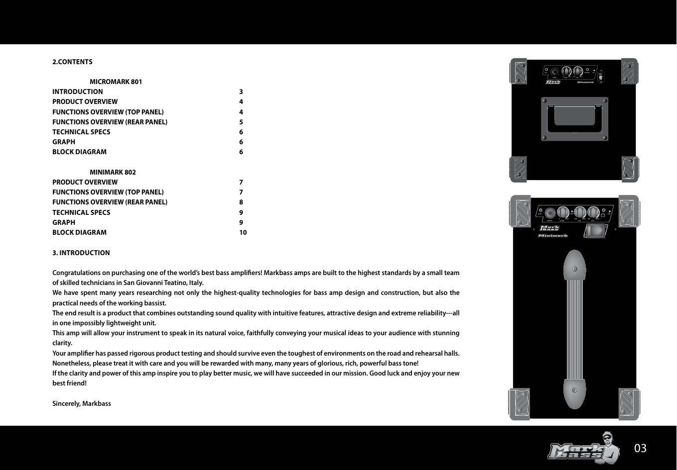Markbass Micromark 801 Owners Manual Avan Av Headset Headphone Page 3 Of 12