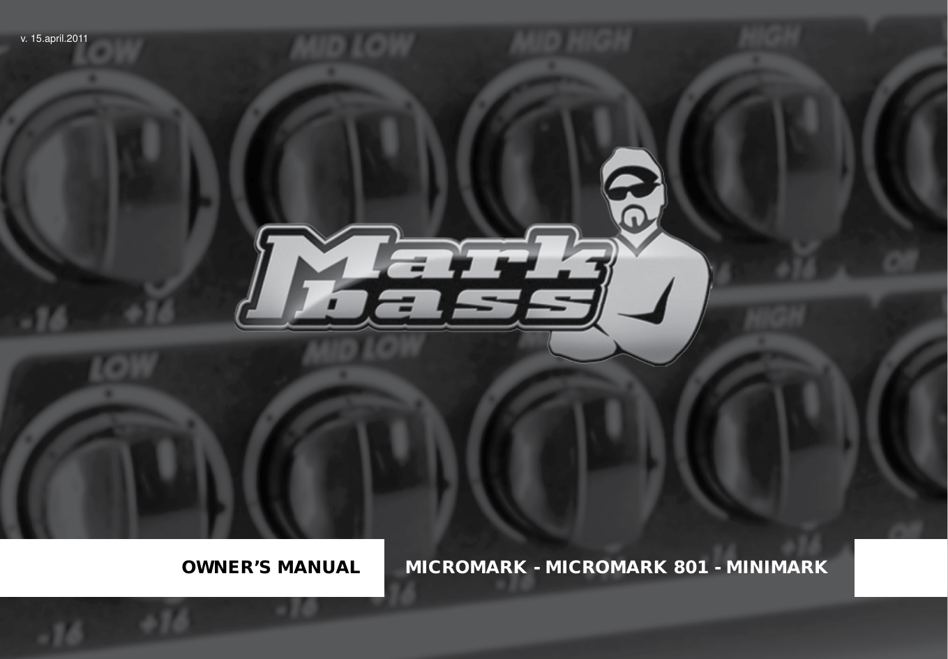 Markbass Minimark Owners Manual Avan Av 801 Headset Headphone Page 1 Of 12