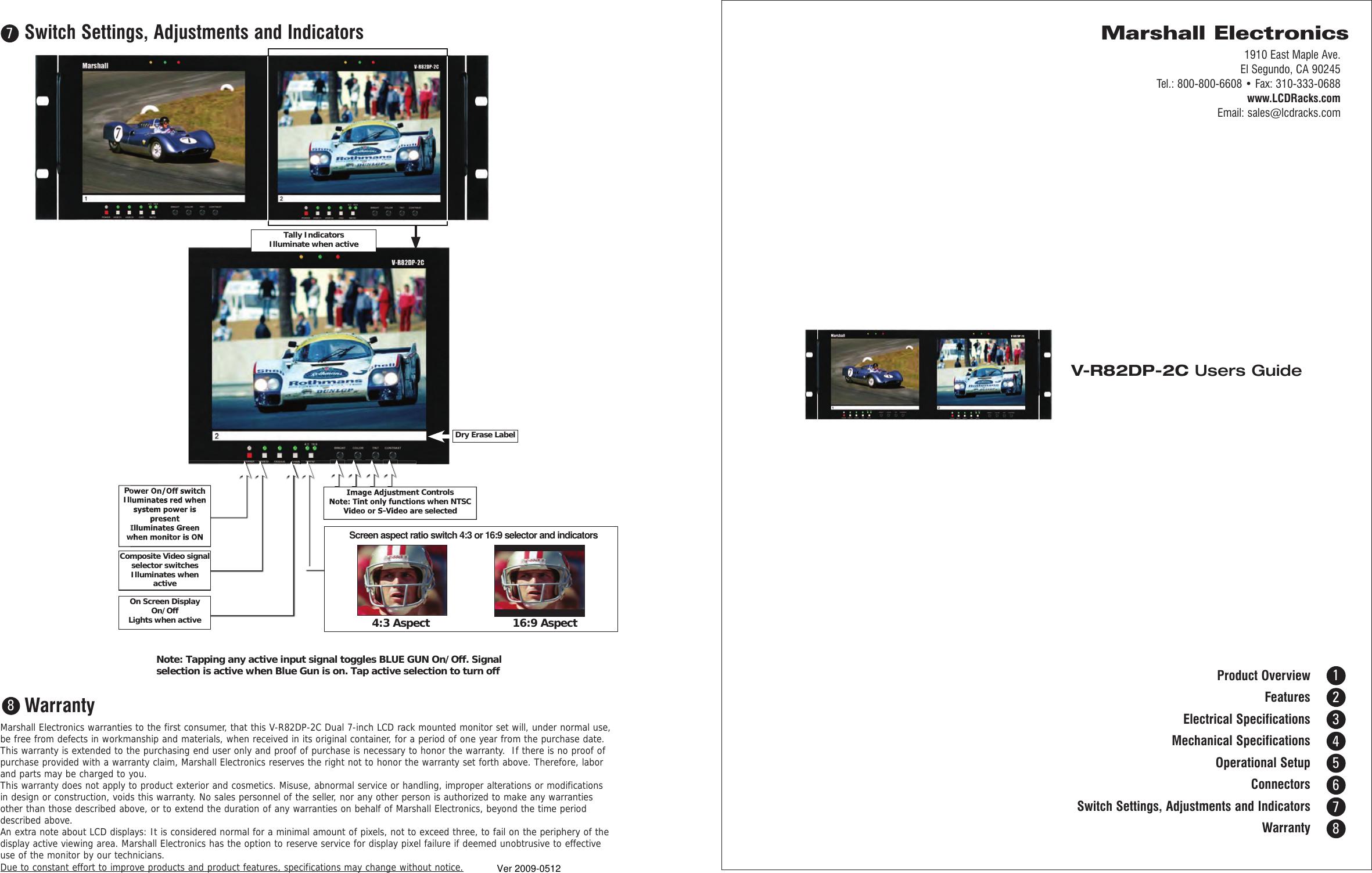 marshall electronic v r82dp 2c users manual 2c usersguide rh usermanual wiki Marshall M-CT7 Electronics Marshall Electronics USA