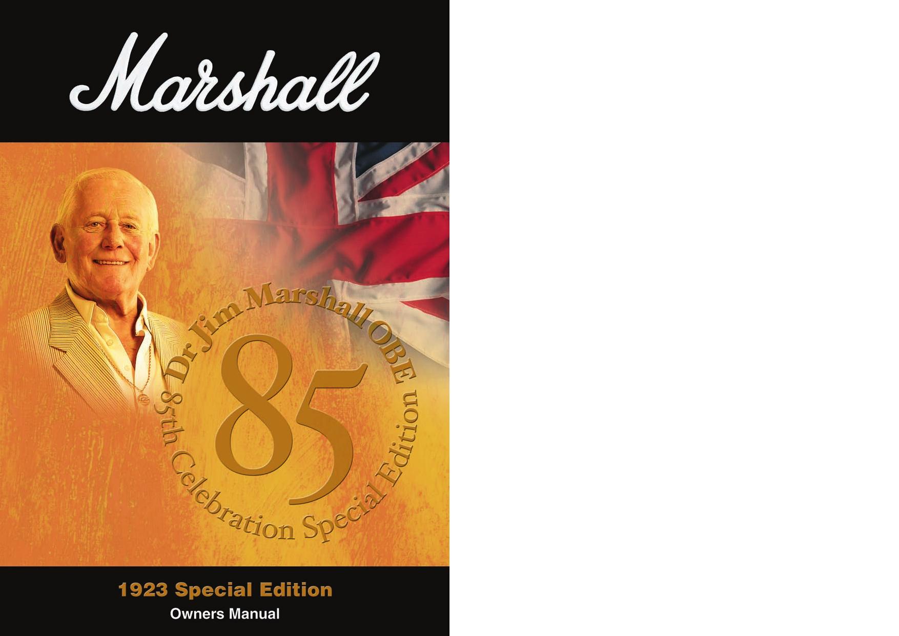 Page 1 of 4 - Marshall Marshall-1923-Users-Manual-  Marshall-1923-users-manual