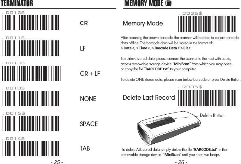 Marson Technology Co MT1227 Barcode Scanner User Manual