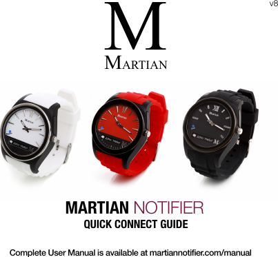 Martian Watches Notifier Quick Connect QCG EN V8