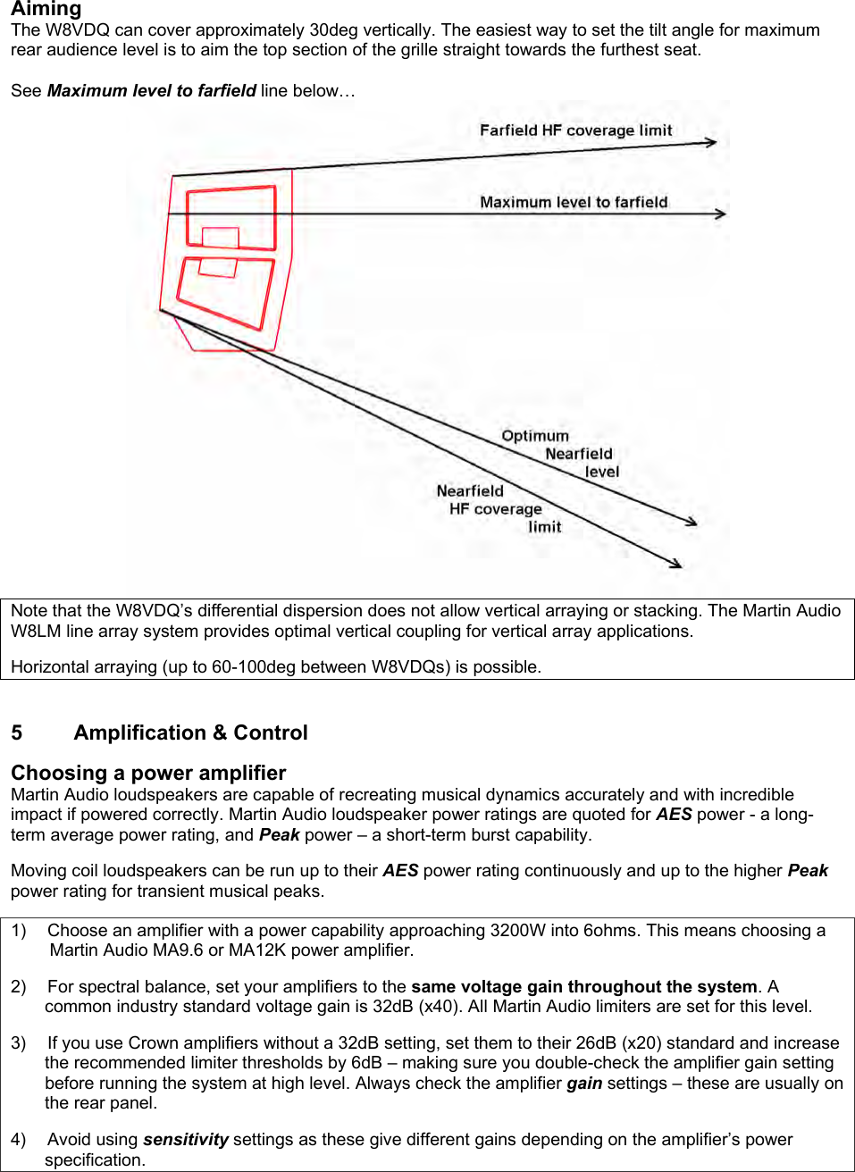 Martin Audio W8Vdq Users Manual UG 041108