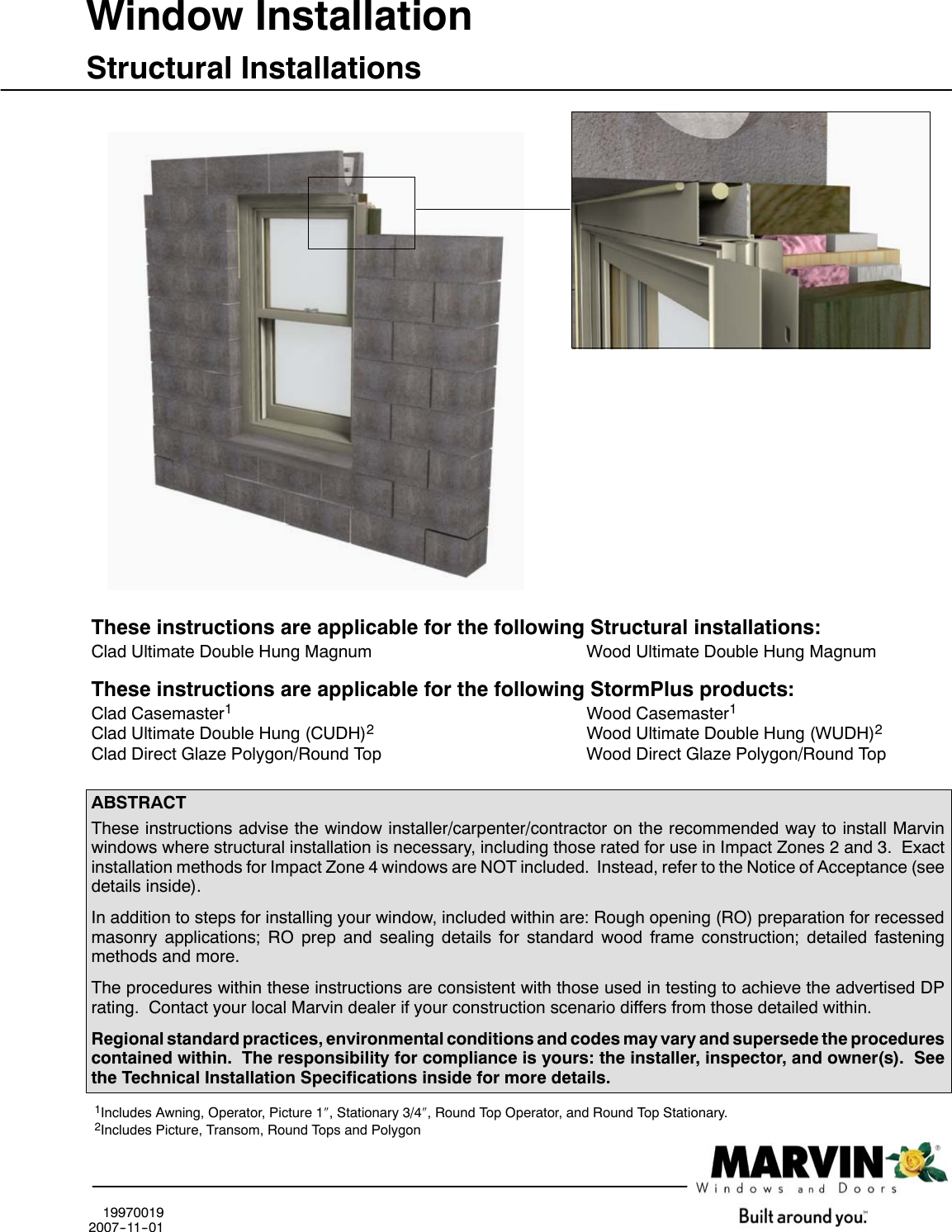 Marvin Window 19970019 Structural