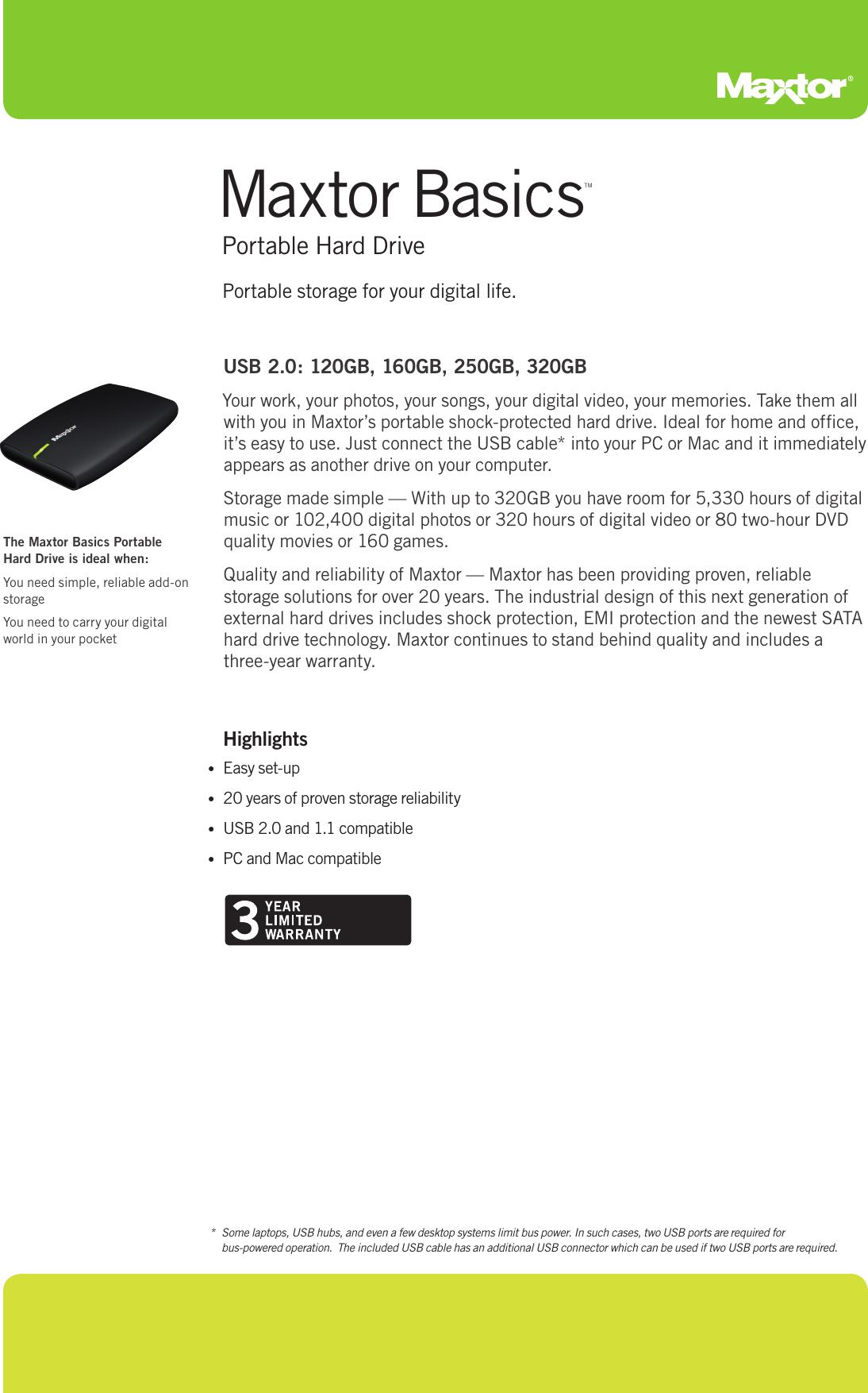 MAXTOR BASICS PORTABLE USB DEVICE DRIVER FOR WINDOWS 10