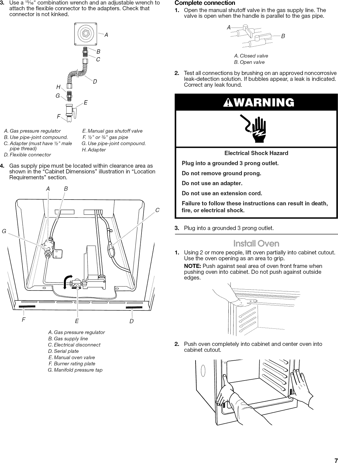 Maytag Cwg3100aas13 User Manual 24 Built In Gas Oven Manuals And Igniter Wiring Diagram Page 7 Of 12
