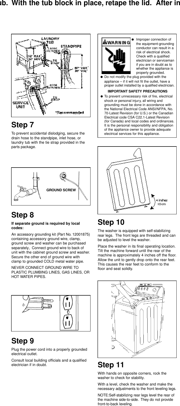 Maytag Mav9600eww Installation Instructions 62610010 User Manual Washing Machine Wiring Diagram Page 6 Of 7 Washer Manuals And