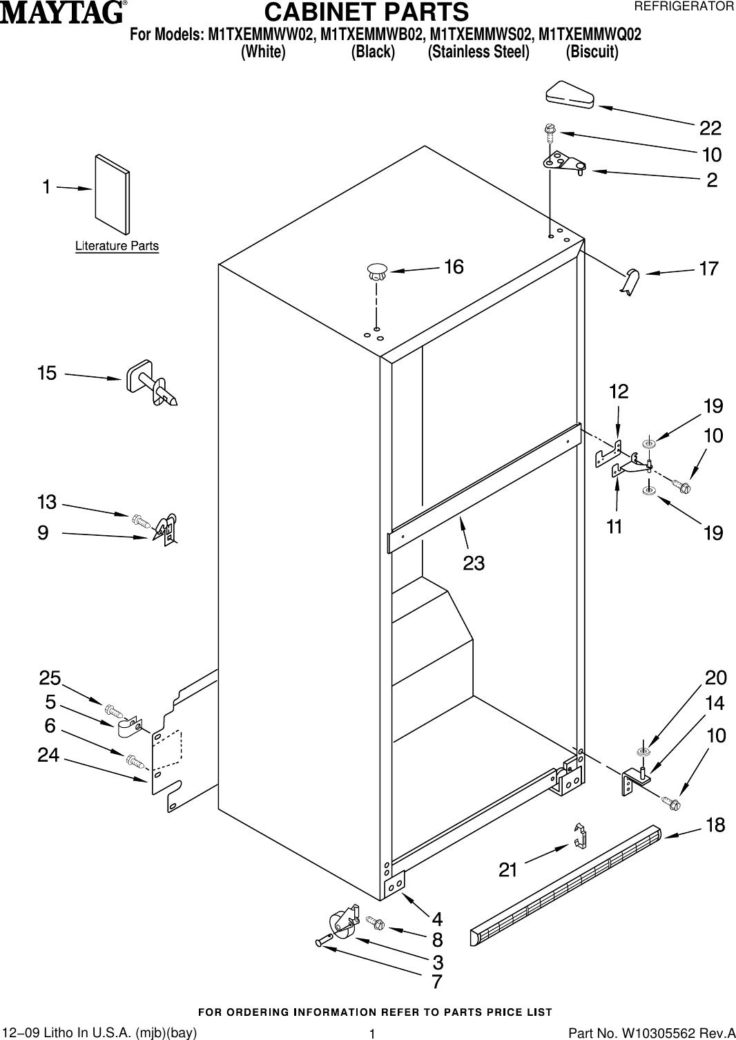 Maytag M1Txemmwb02 Users Manual