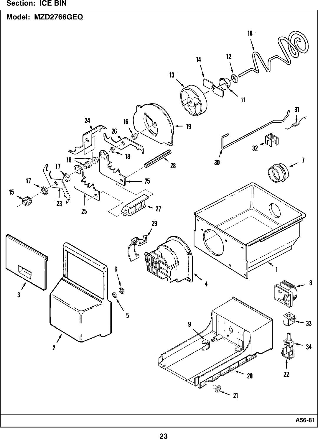 Maytag Refrigerator Mzd2766Geq Users Manual