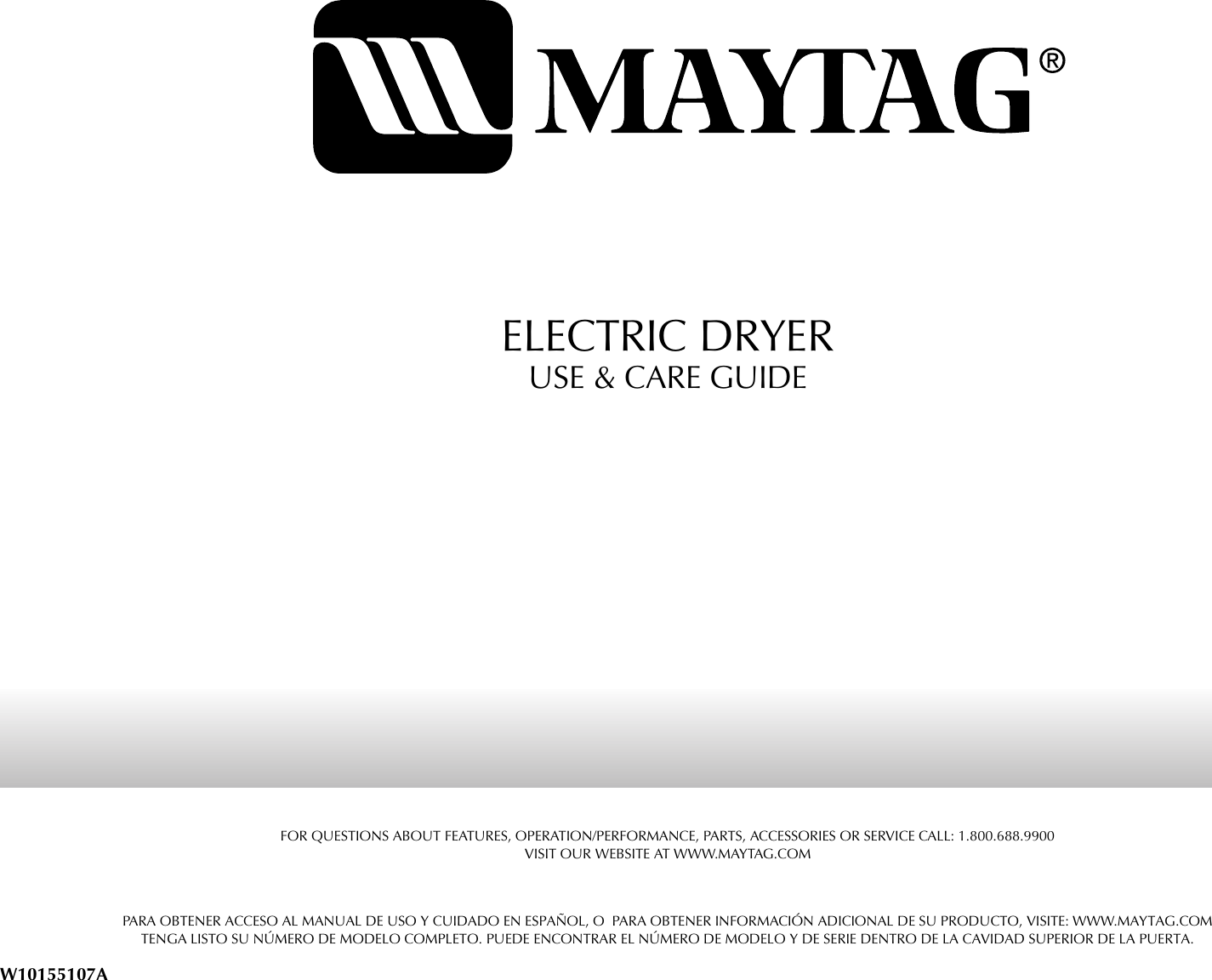 Maytag Med5801tw Users Manual Electric Dryer Parts Diagrams