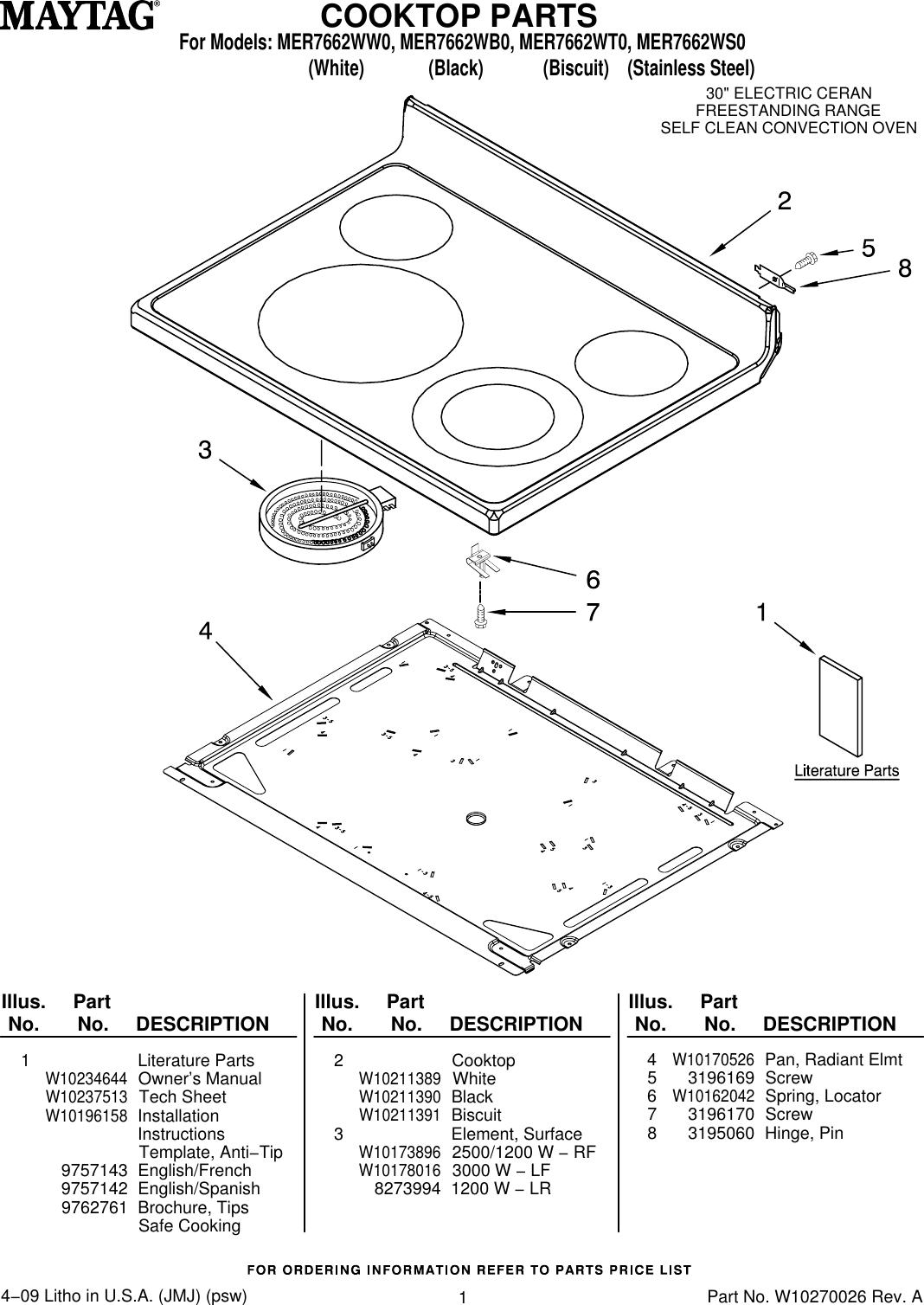 Maytag Mer7662wb0 Users Manual Stove Element Wiring Diagram