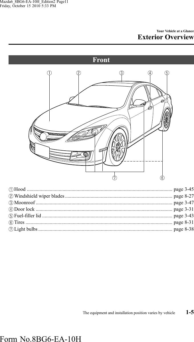 08 09 10 11 12 Mazda6 Blue Tint LED Signal Convex Side Mirror Mazda 6 GH