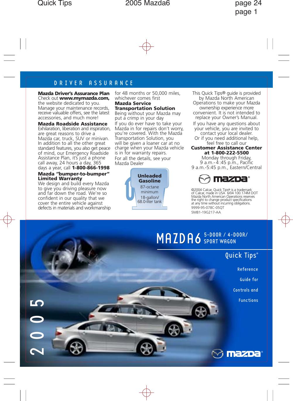 Mazda Mazda6 Sports Sedan Quick Tips 05 7 21 04