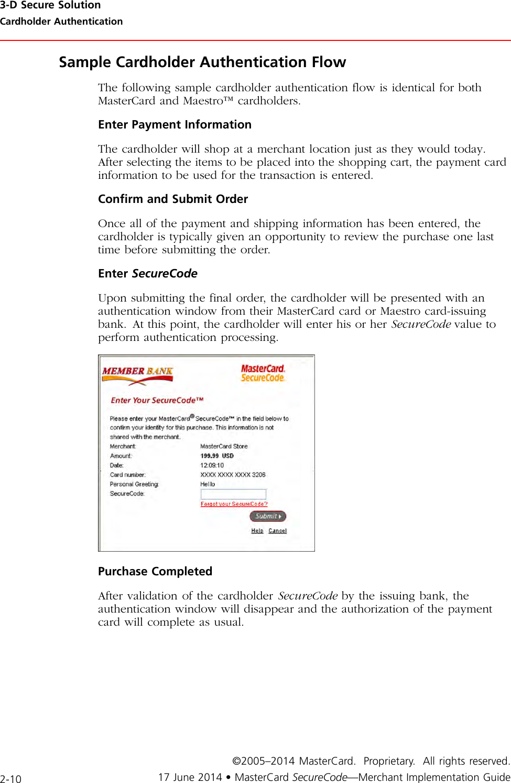 MasterCard SecureCode SMI Manual Merchant