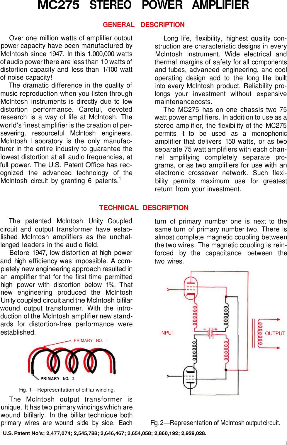 Mcintosh Mc 275 Users Manual