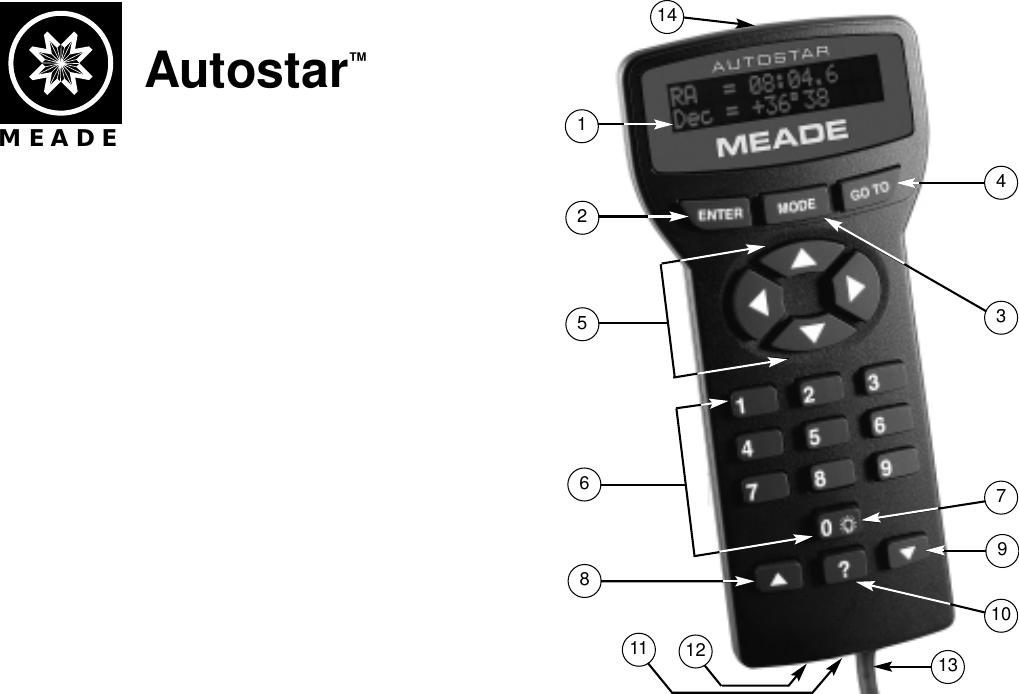 Page 1 of 12 - Meade Meade-497-Autostar-Computer-Controller-Instruction-Manual-  Meade-497-autostar-computer-controller-instruction-manual