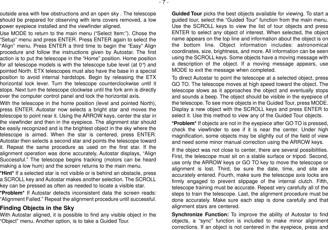 Page 7 of 12 - Meade Meade-497-Autostar-Computer-Controller-Instruction-Manual-  Meade-497-autostar-computer-controller-instruction-manual