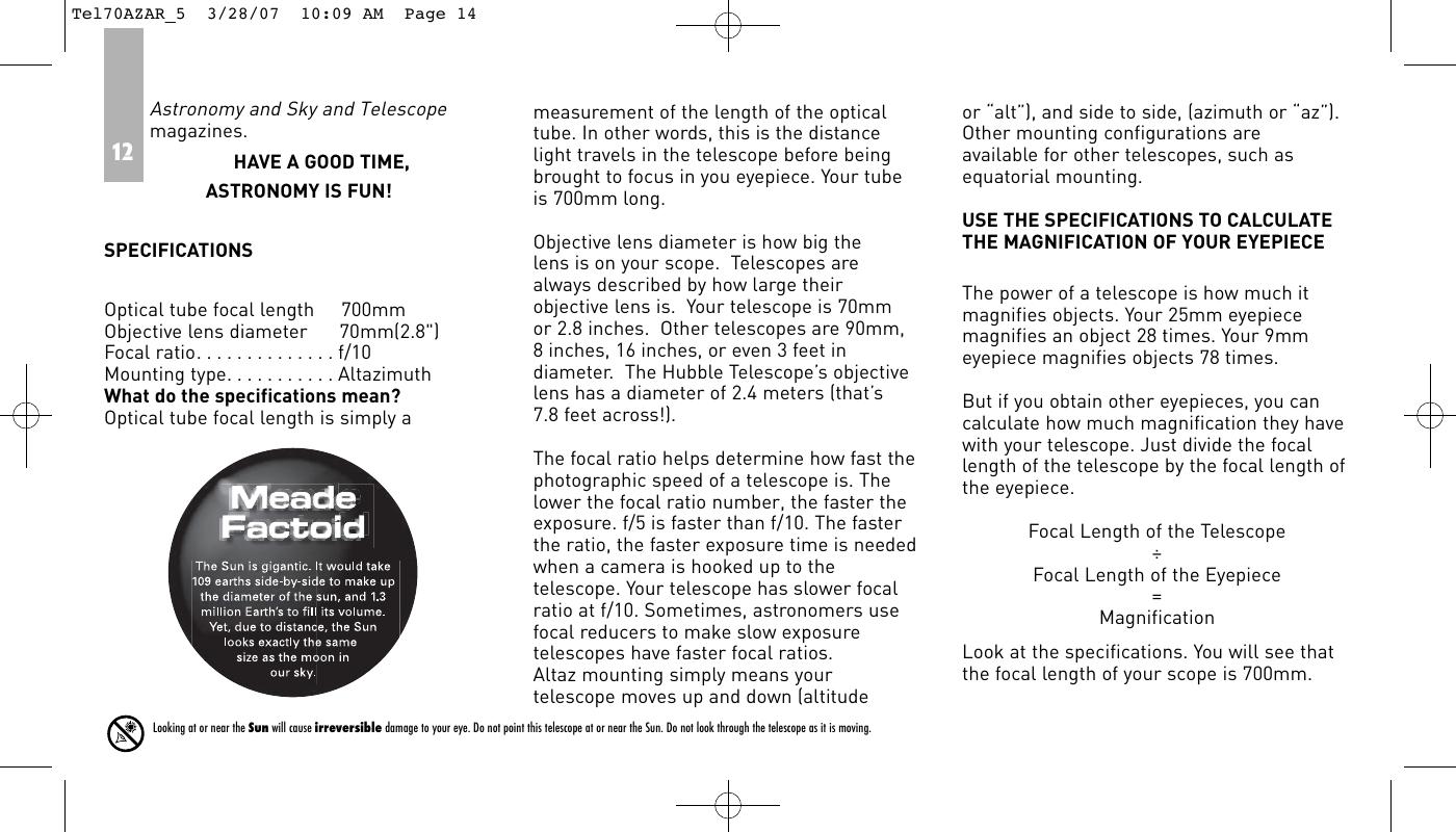Meade 70Az Ar Users Manual Tel70AZAR_5
