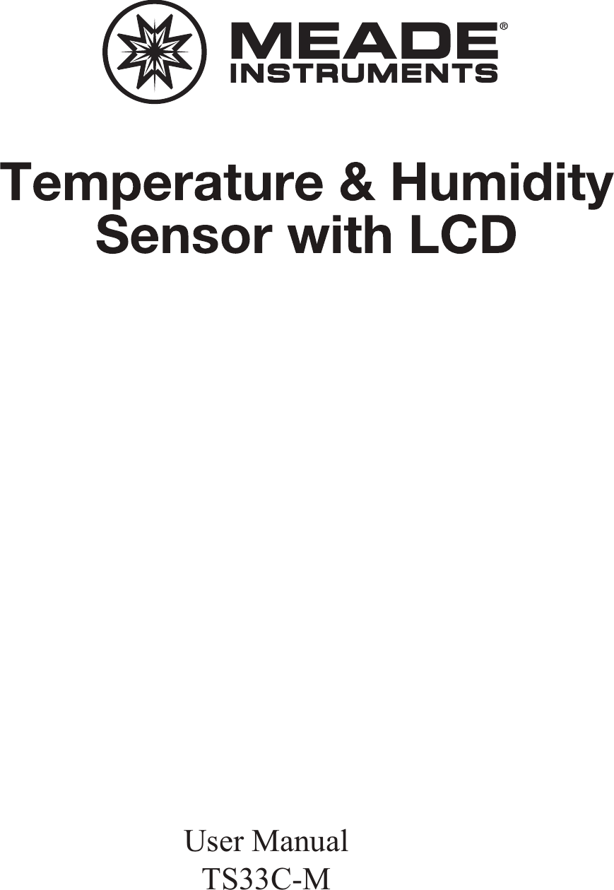 Meade Instruments Ts33c M Temperature And Humidity Sensor With Lcd