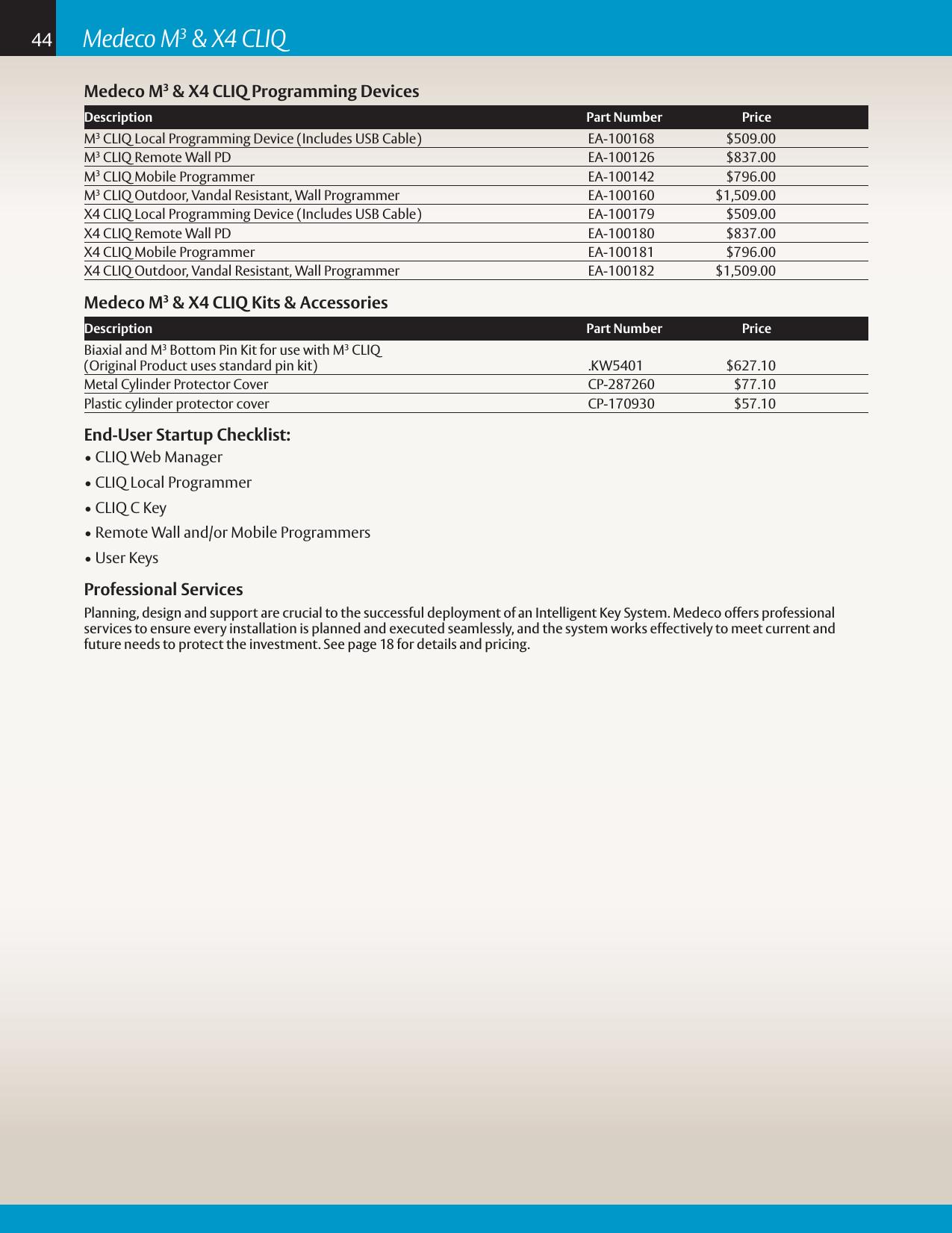Medeco Security Locks Price Book Product Catalog 2018