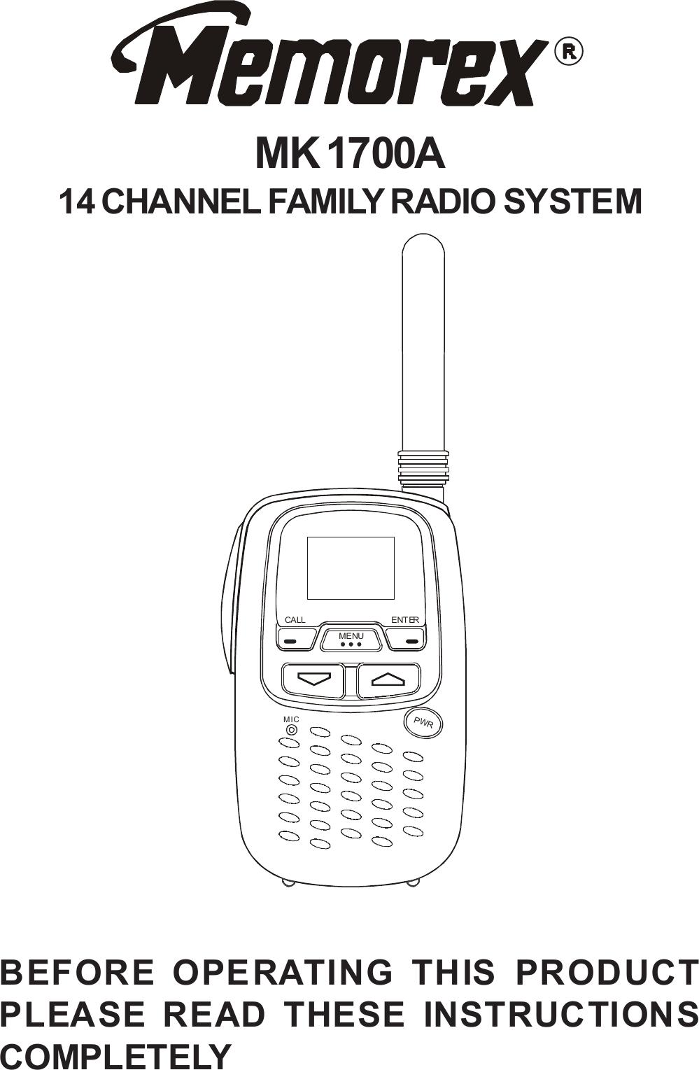 Memorex Mk1700A Users Manual