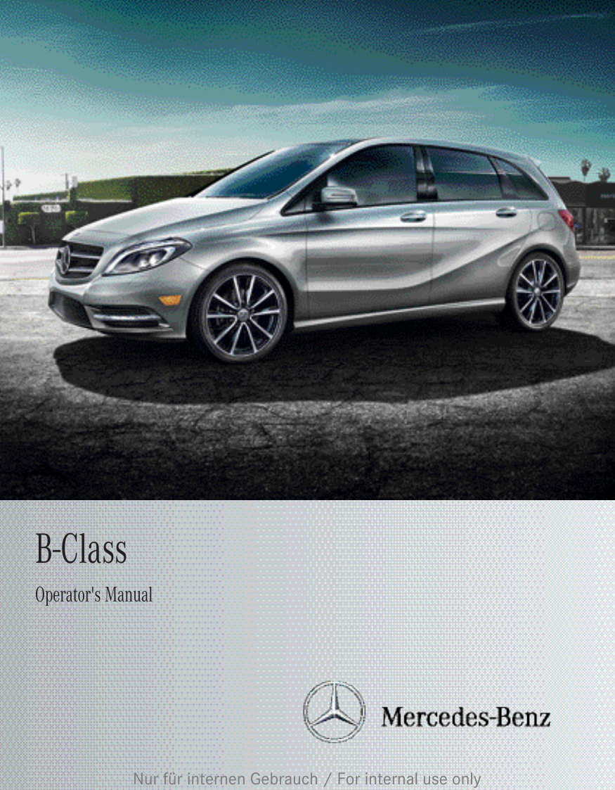 mercedes benz 2012 b class w246 owners manual. Black Bedroom Furniture Sets. Home Design Ideas