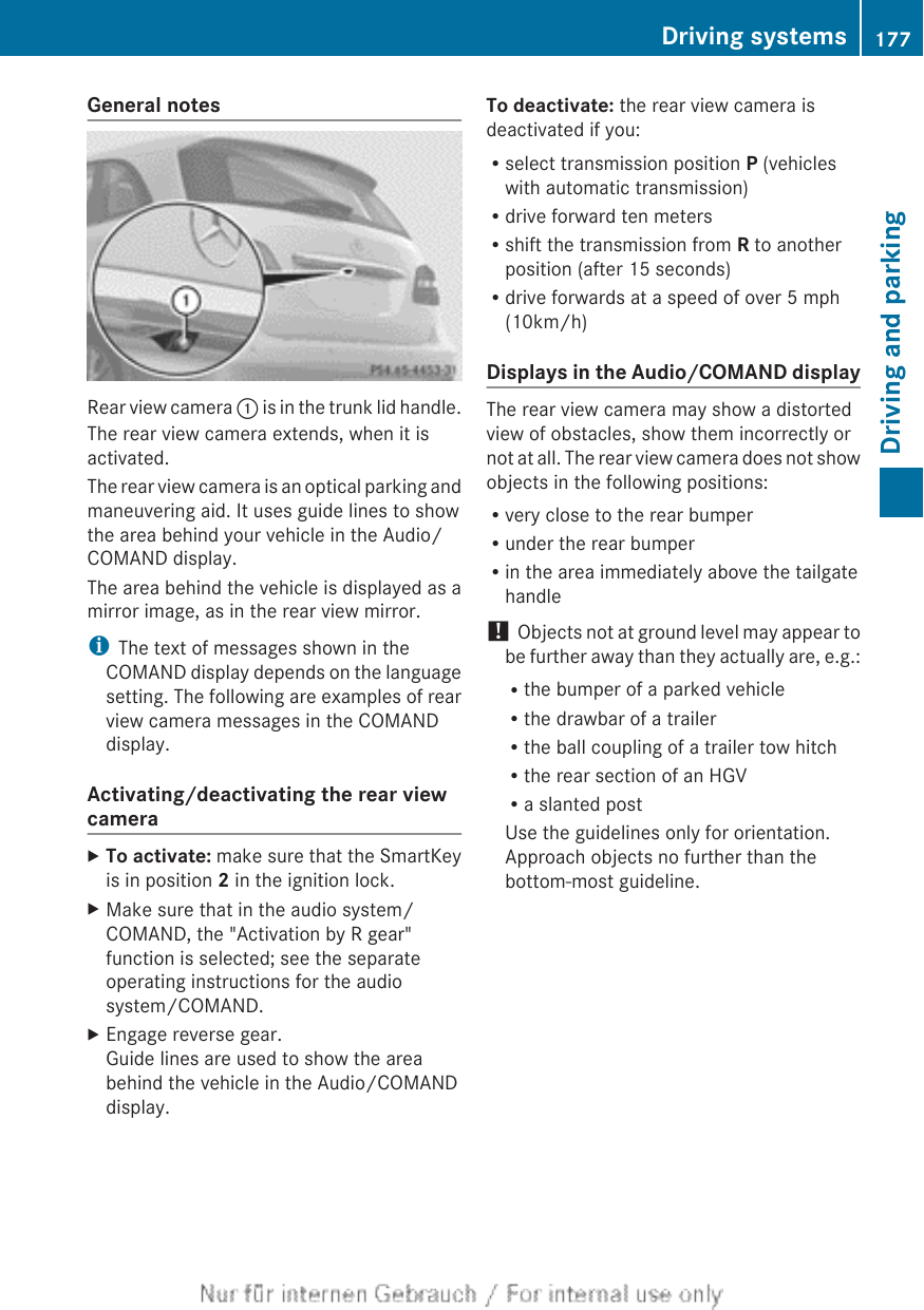 Mercedes Benz 2012 B Class W246 Owners Manual