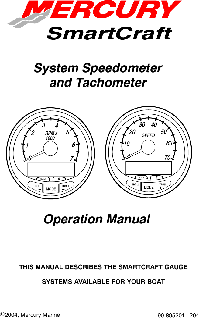 Mercury 90 895201 204 Users Manual