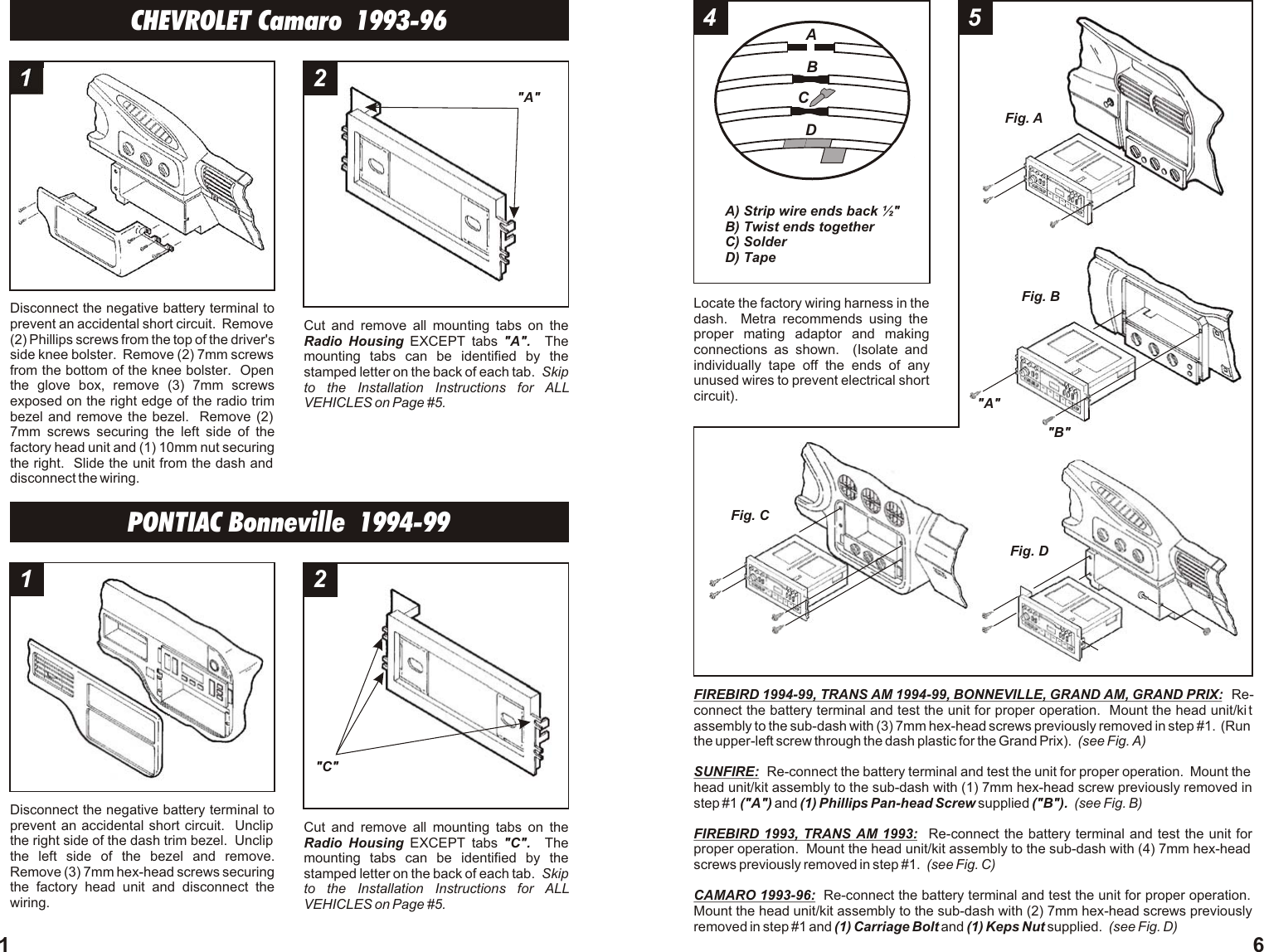 Metra Electronics 99 3009 Users Manual Distribution Block Wiring Diagram Page 2 Of 4