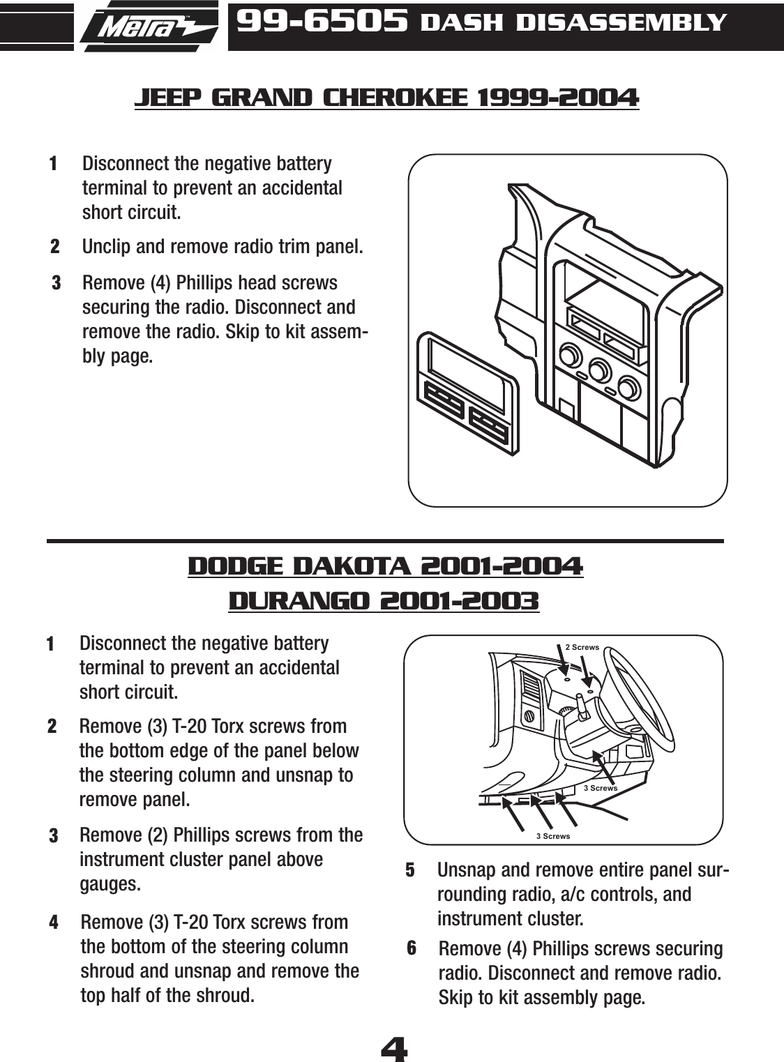 Metra Electronics 99 6505 Users Manual Inst95 3305 Distribution Block Wiring Diagram Page 6 Of 12