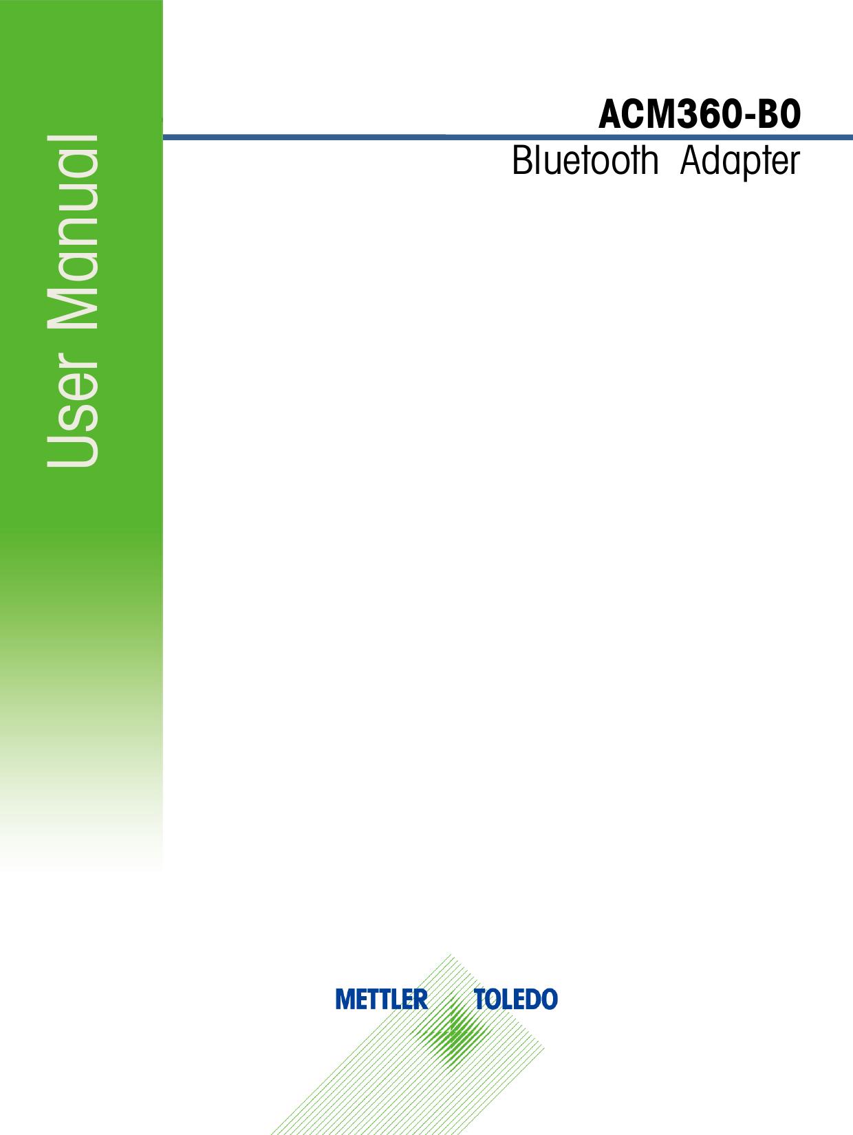 User Manual ACM360-B0 Bluetooth  Adapter