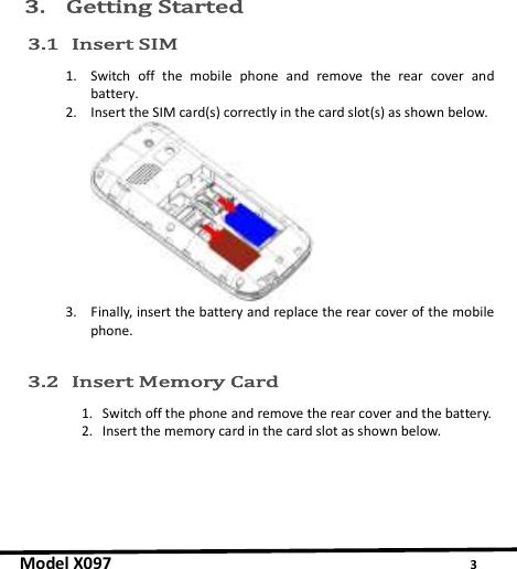 Micromax X097 Instruction Manual 1