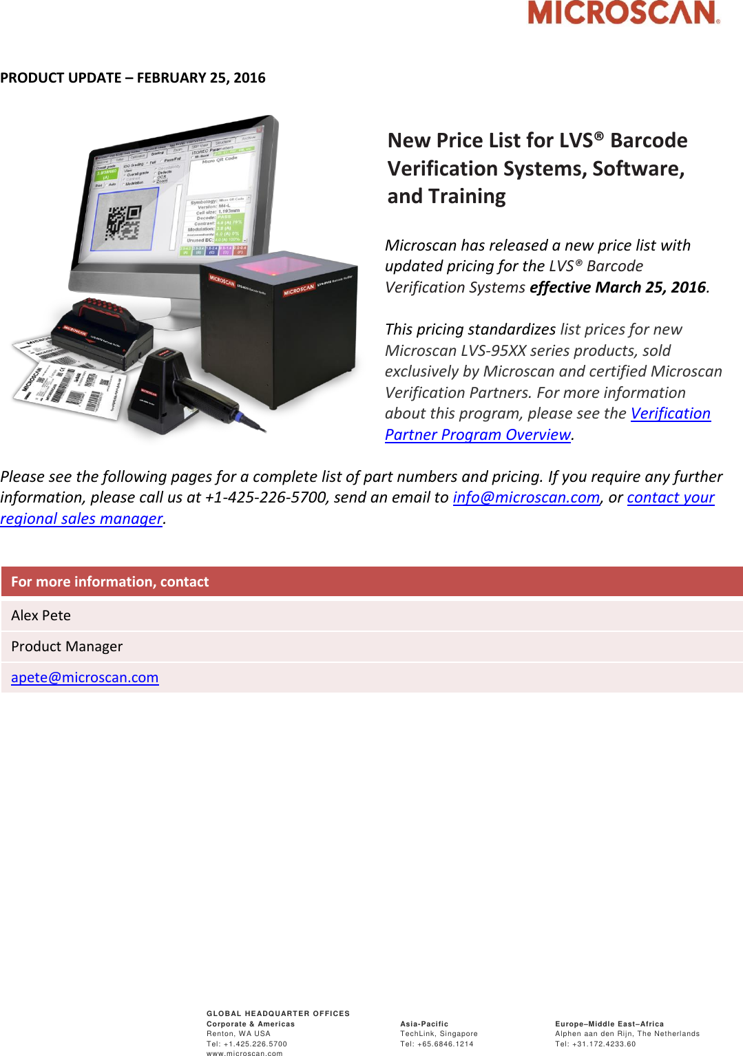 Barcode Verification 2016 02 24 new pricing lvs 95xx barcode verification systems