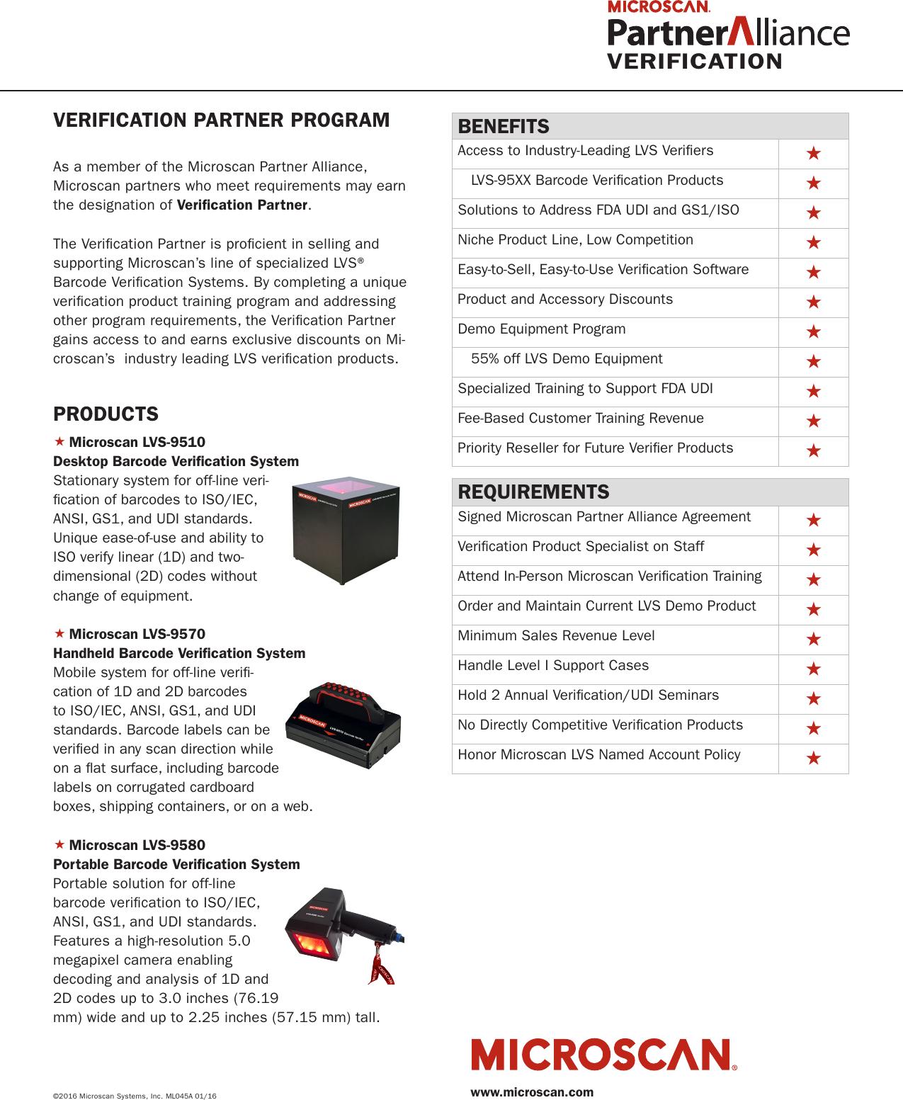 Barcode Verification verification partner program overview