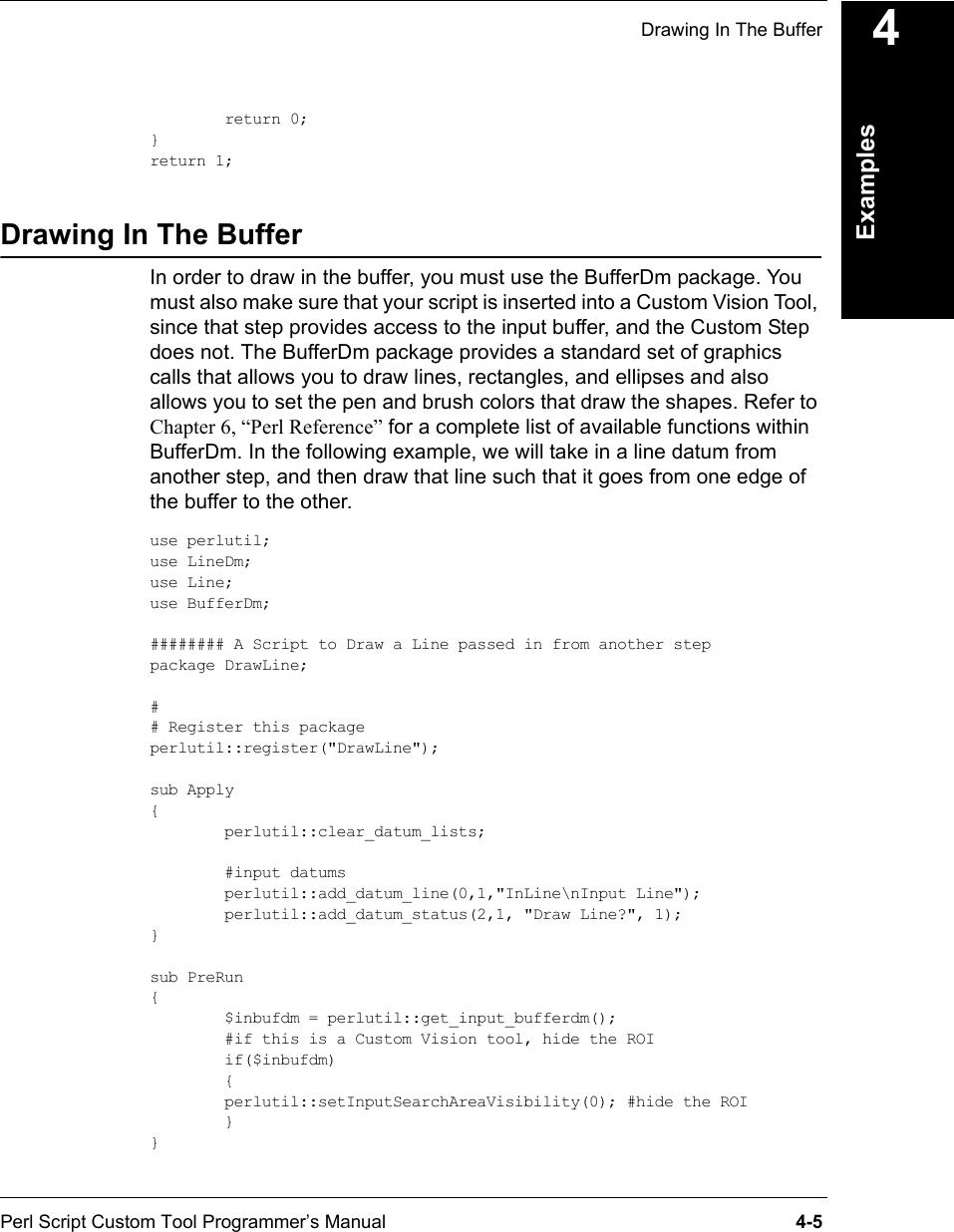 Visionscape Perl Script Custom Tool Programmer's Manual