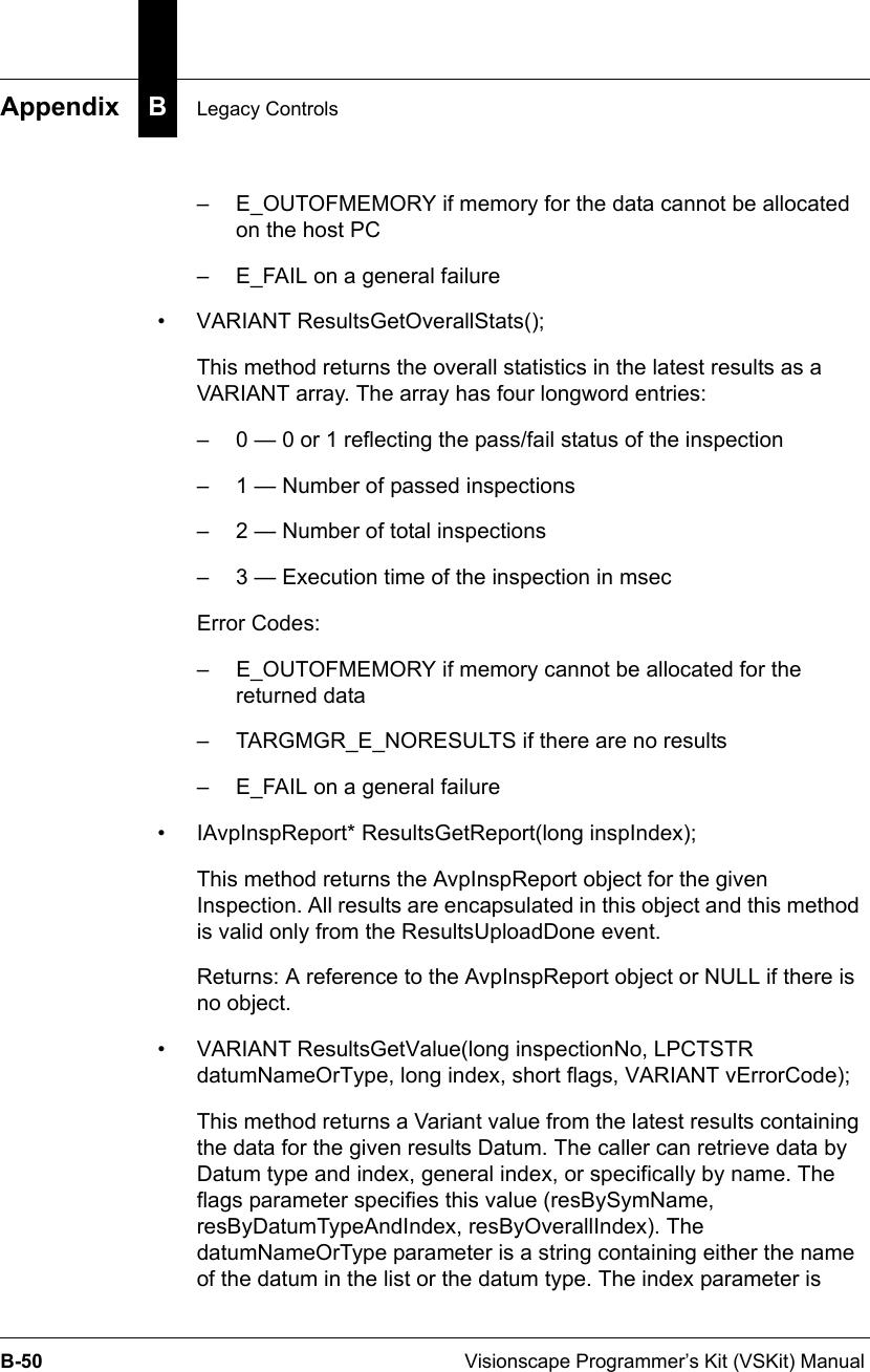 Visionscape Programmer's Kit (VSKit) Manual
