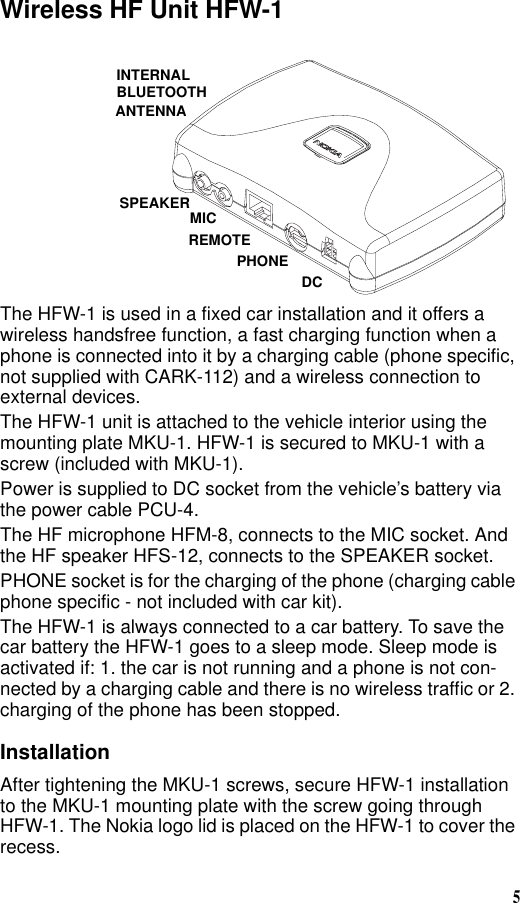 on nokia bluetooth car kit wiring diagram