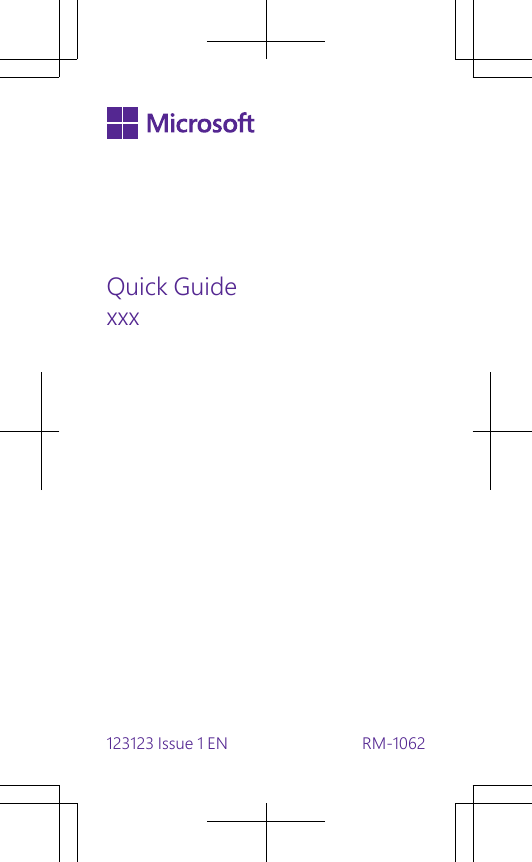 Microsoft RM-1062 GSM/WCDMA/LTE cellular device w/BT, BLE