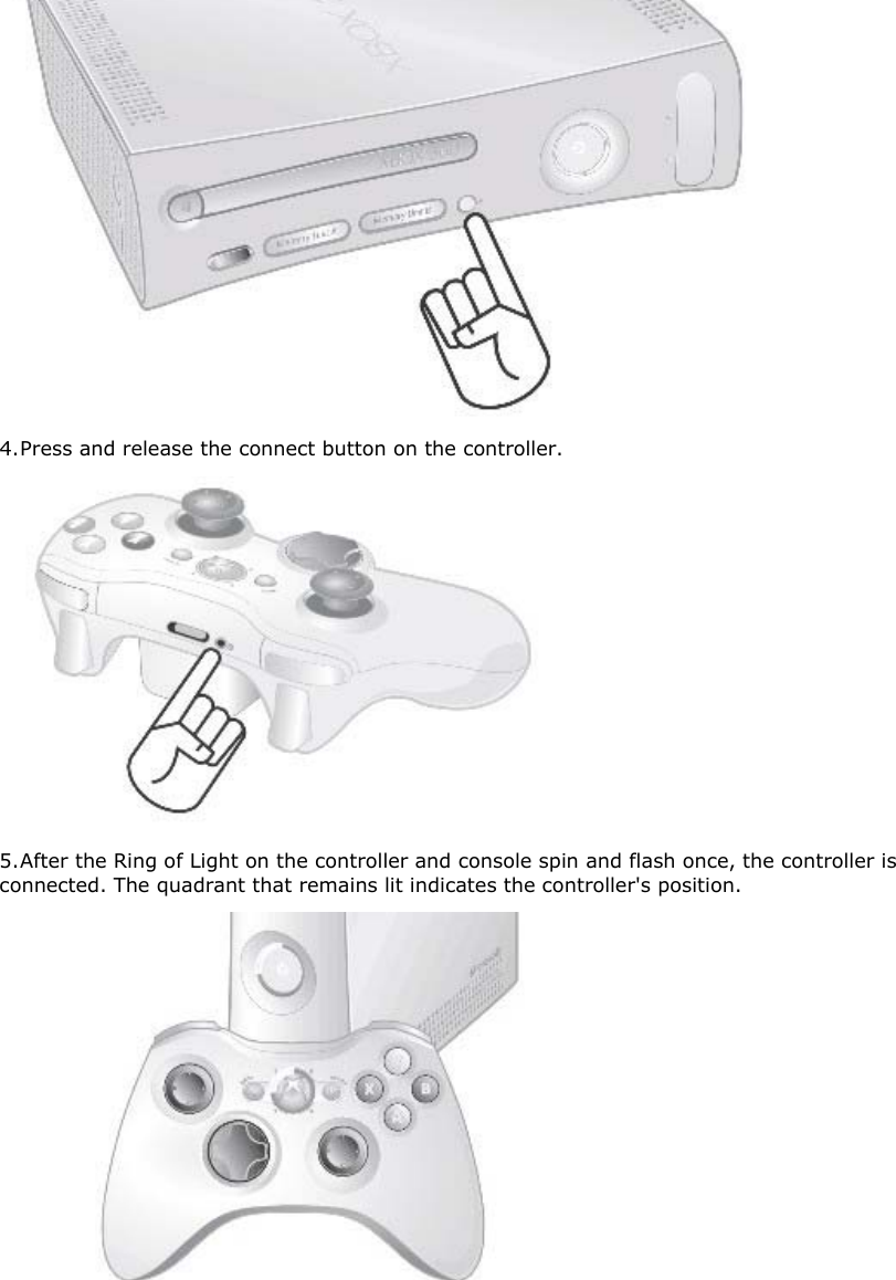 Microsoft wc01 xbox wireless controller user manual press and release the connect button on the controller 5 after the ccuart Choice Image