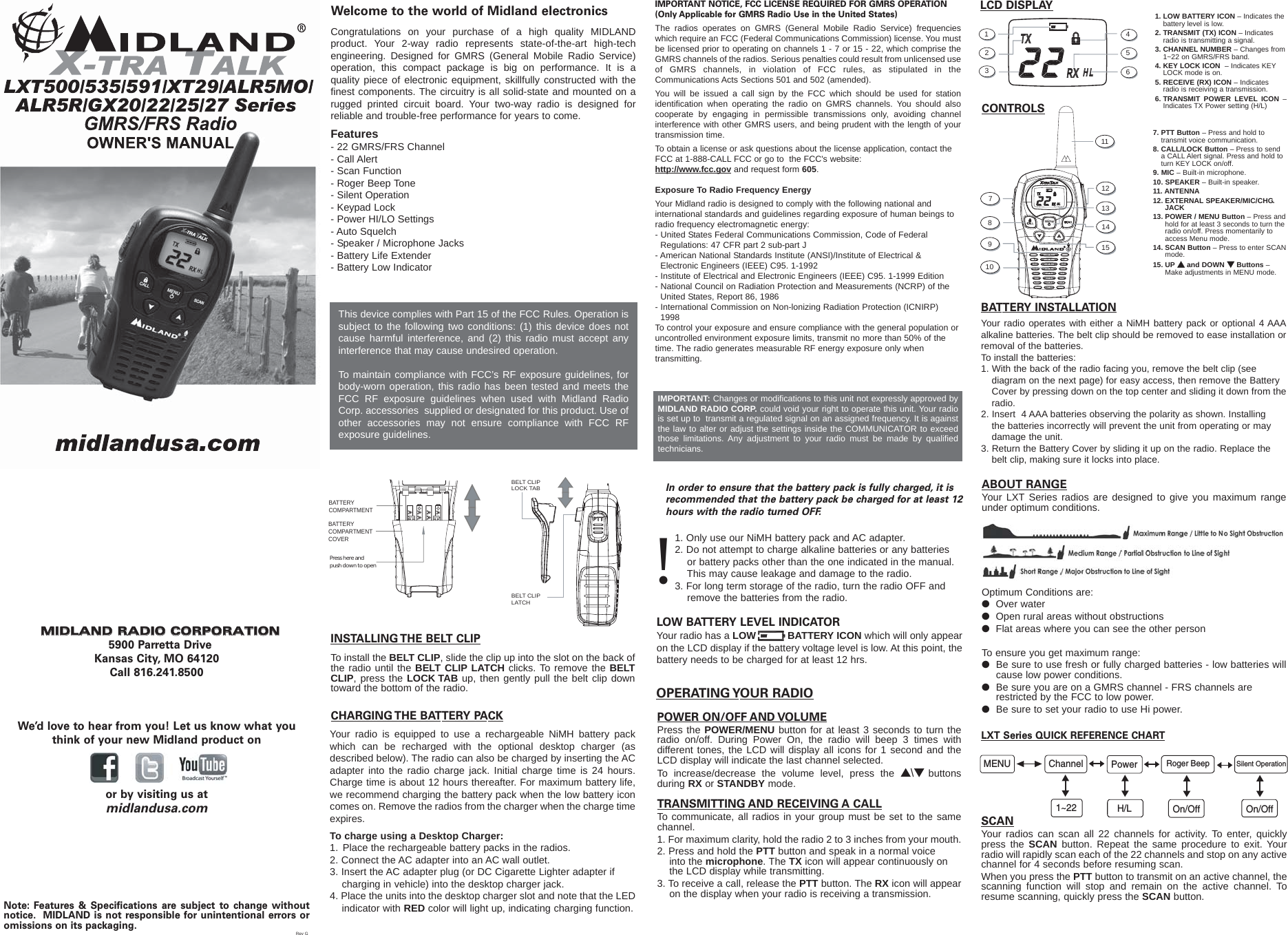 midland radio lxt535pa gmrs    frs user manual lxt500 owner s manual front rev g qxp