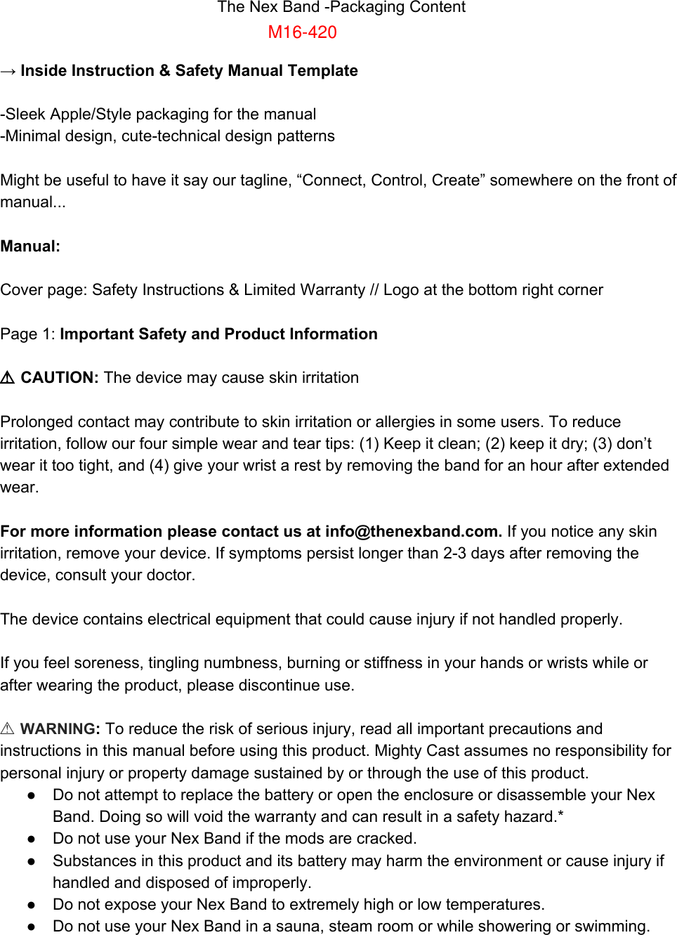mighty cast 16420nex customizable smart band user manual rh usermanual wiki Organization Guide Guide Book