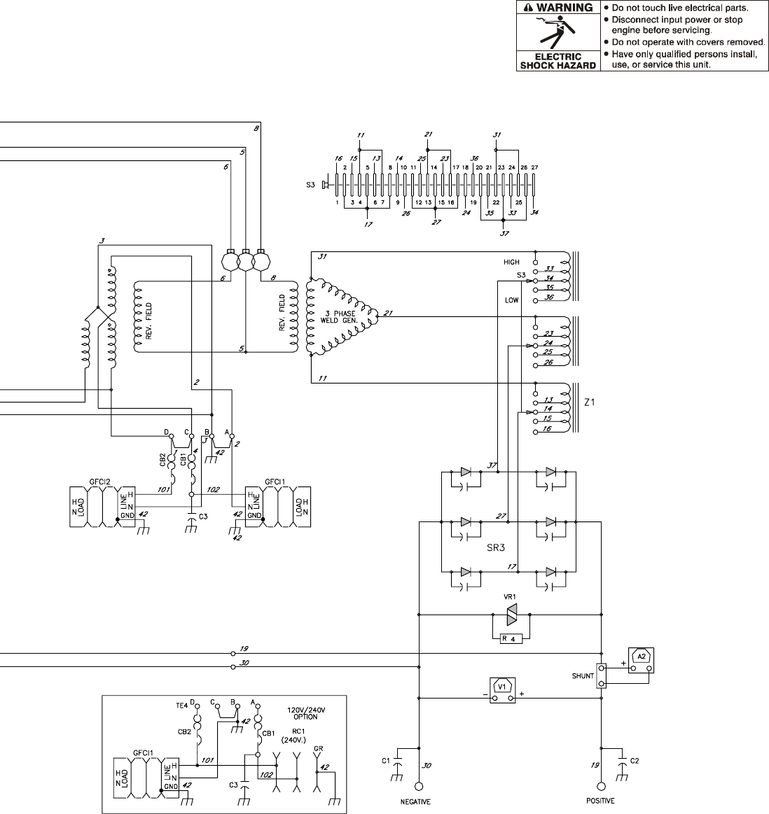 Miller Electric Big Blue 600d Users Manual Maxstar 200 Wiring Diagram Om 481 Page 31